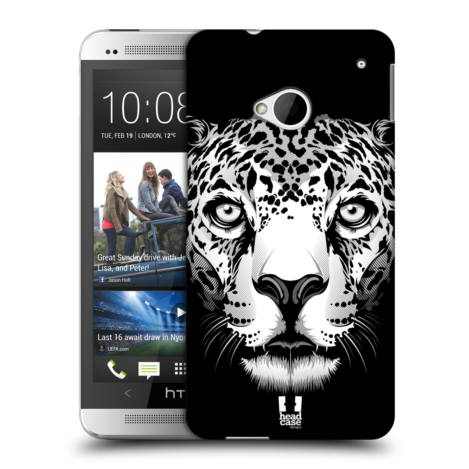 HEAD CASE BIG FACE ILLUSTRATED HARD BACK CASE COVER FOR HTC ONE
