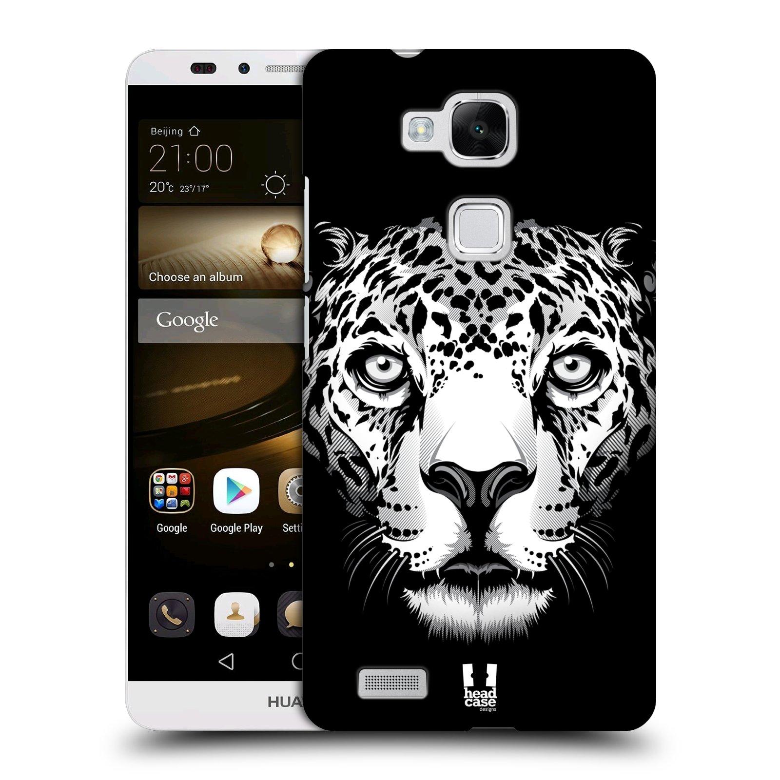 HEAD CASE plastový obal na mobil Huawei Mate 7 vzor Zvíře kreslená tvář leopard