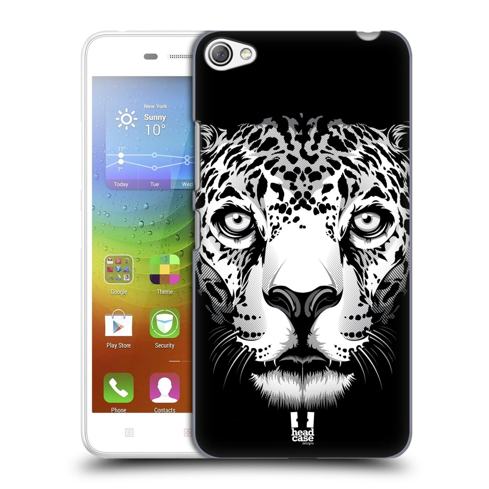HEAD CASE pevný plastový obal na mobil LENOVO S60 / LENOVO S60 DUAL SIM vzor Zvíře kreslená tvář leopard