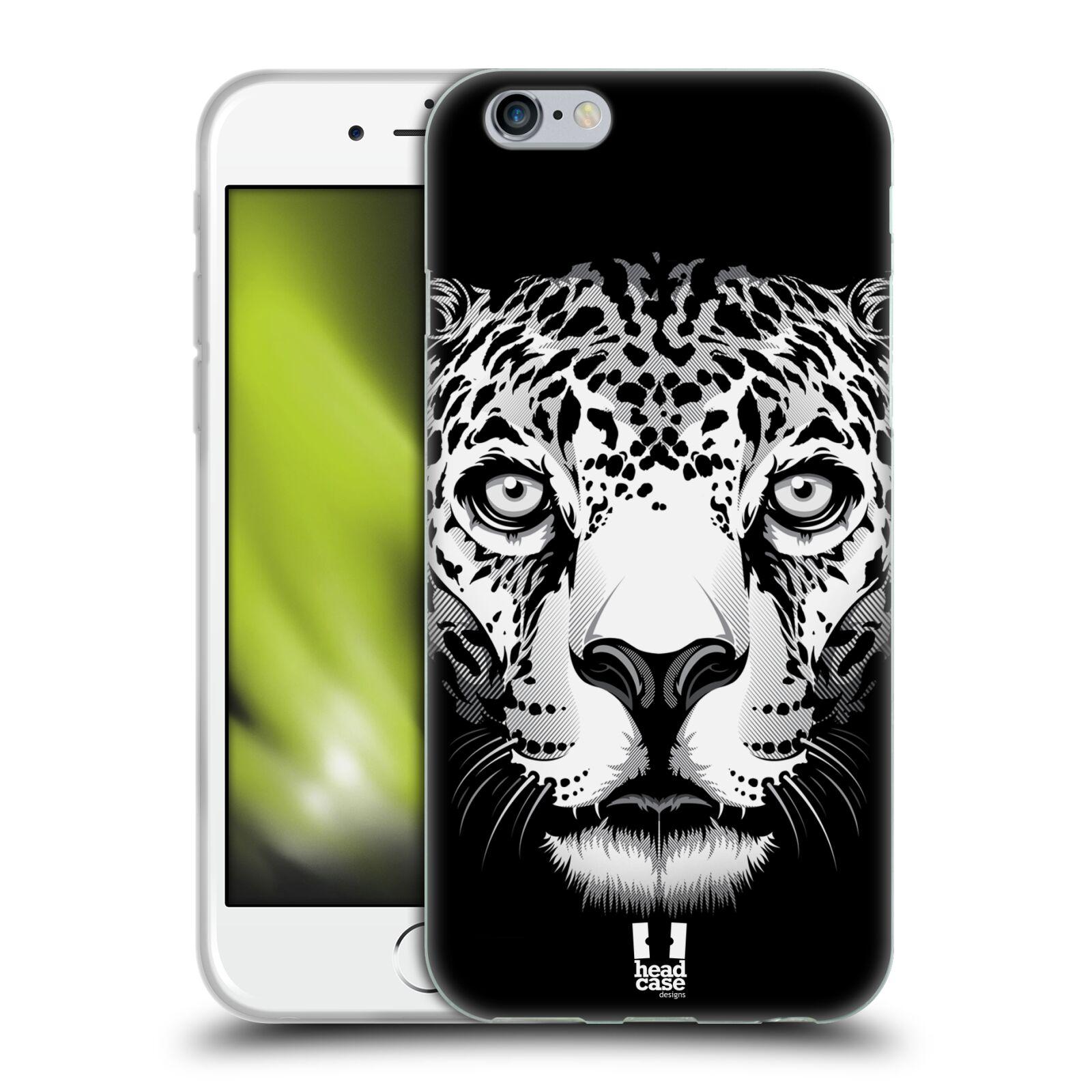 HEAD CASE silikonový obal na mobil Apple Iphone 6/6S vzor Zvíře kreslená tvář leopard