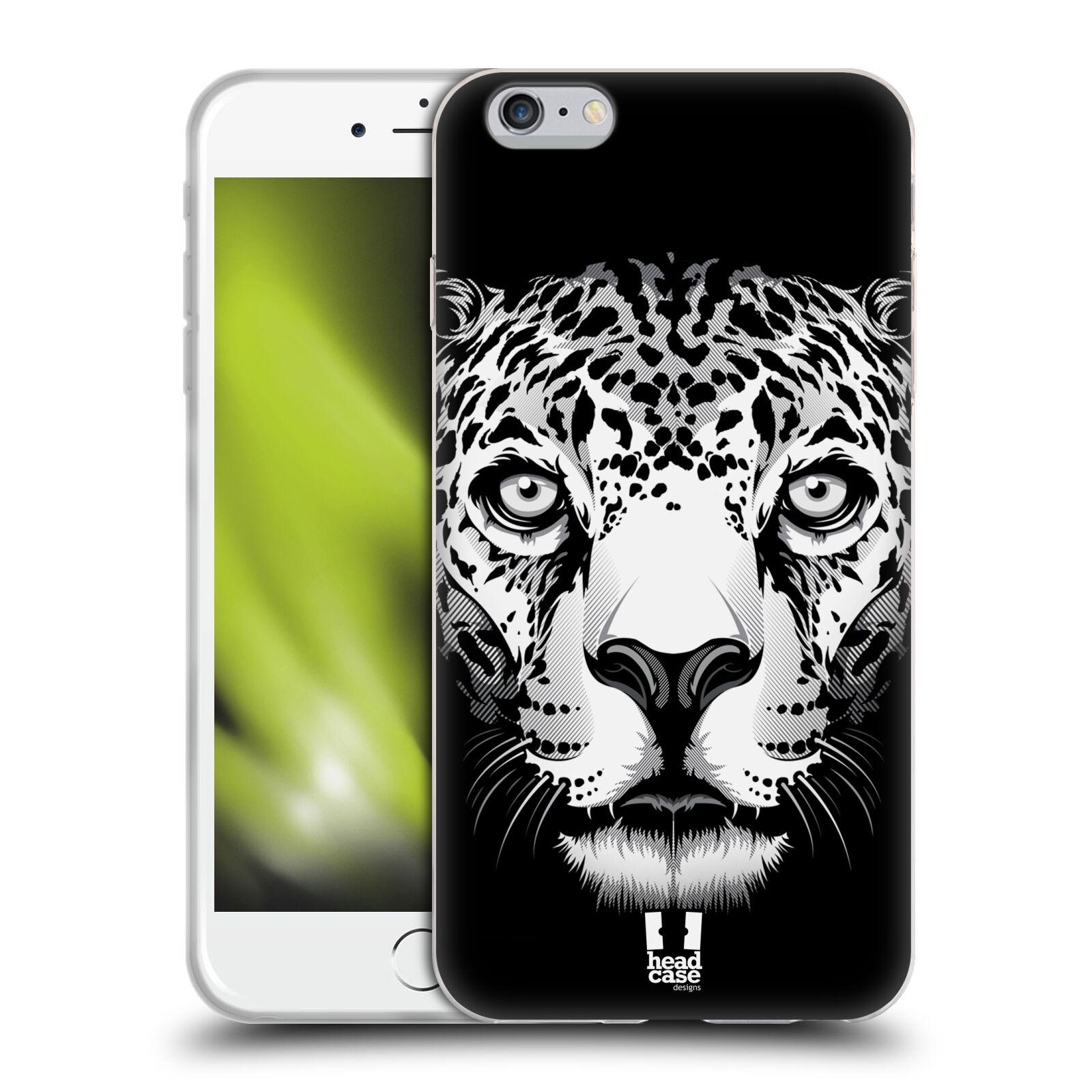 HEAD CASE silikonový obal na mobil Apple Iphone 6 PLUS/ 6S PLUS vzor Zvíře kreslená tvář leopard