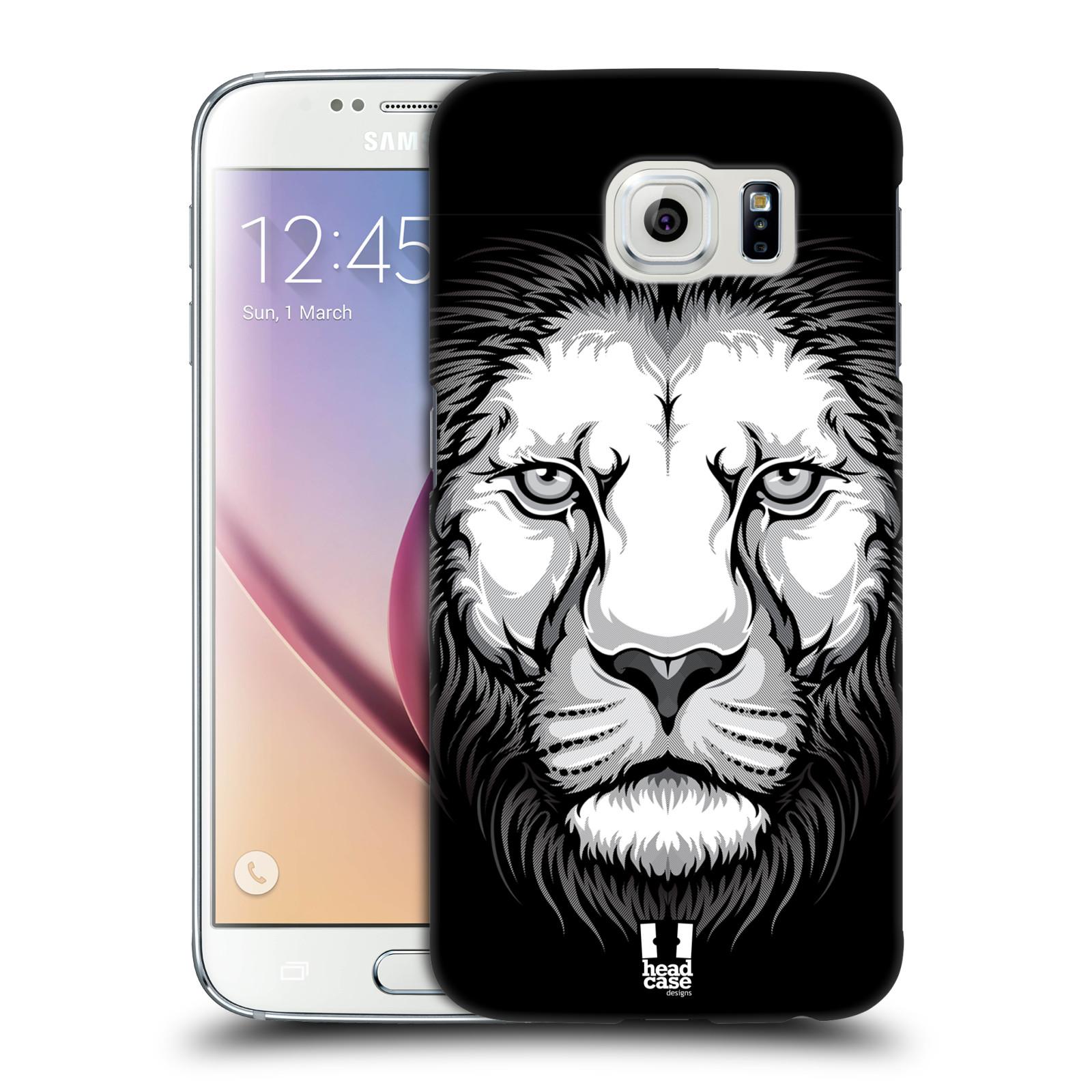 HEAD CASE plastový obal na mobil SAMSUNG Galaxy S6 (G9200, G920F) vzor Zvíře kreslená tvář lev