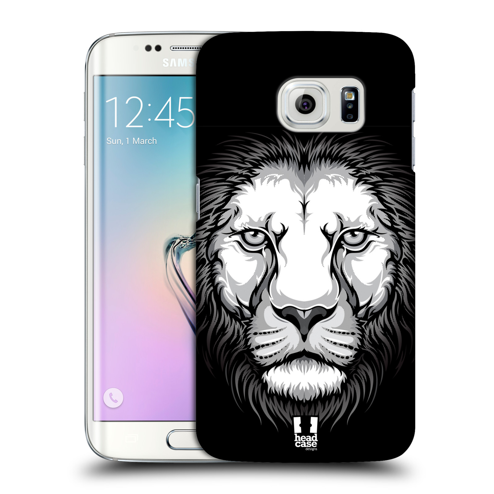 HEAD CASE plastový obal na mobil SAMSUNG Galaxy S6 EDGE (G9250, G925, G925F) vzor Zvíře kreslená tvář lev