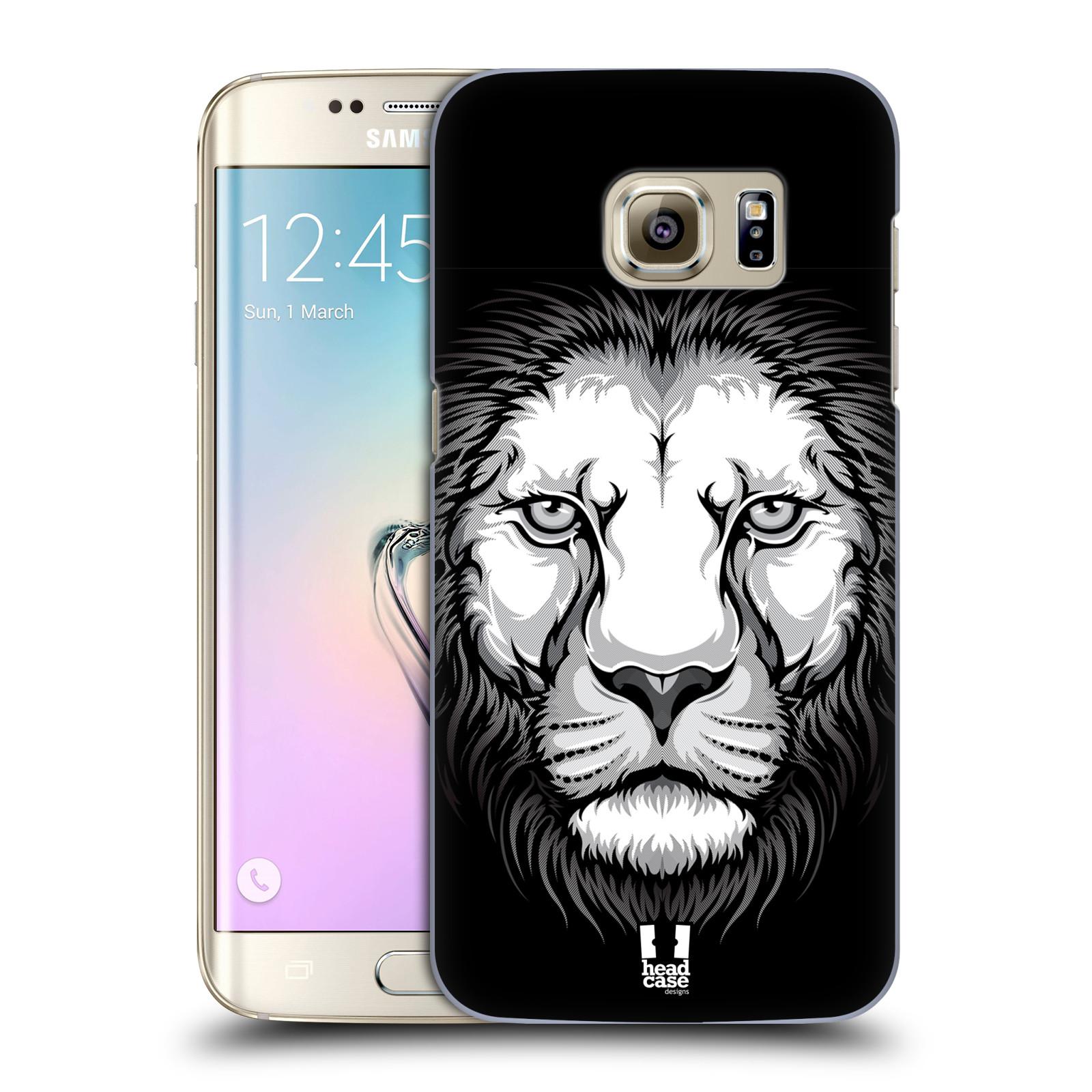 HEAD CASE plastový obal na mobil SAMSUNG GALAXY S7 EDGE vzor Zvíře kreslená tvář lev