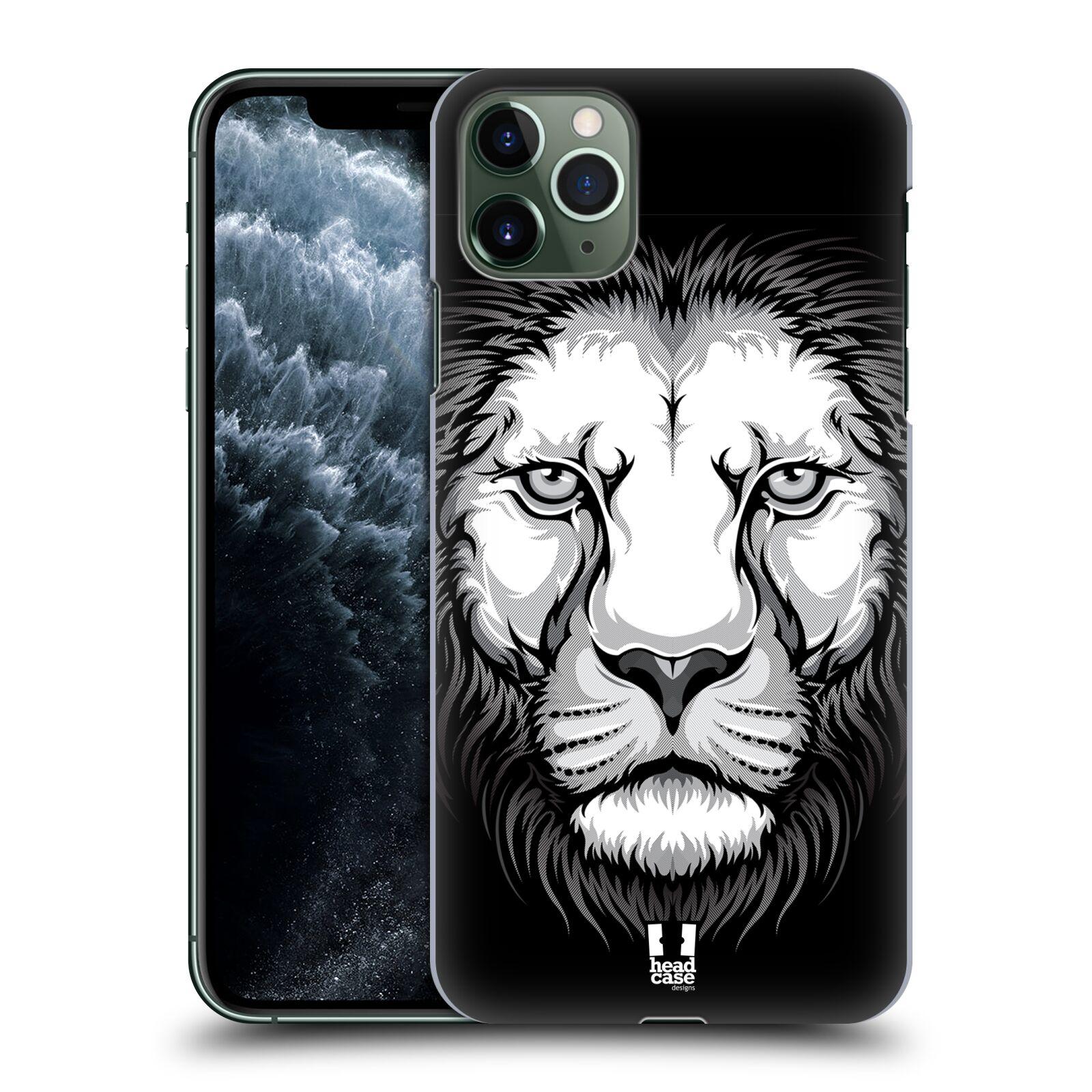 Pouzdro na mobil Apple Iphone 11 PRO MAX - HEAD CASE - vzor Zvíře kreslená tvář lev