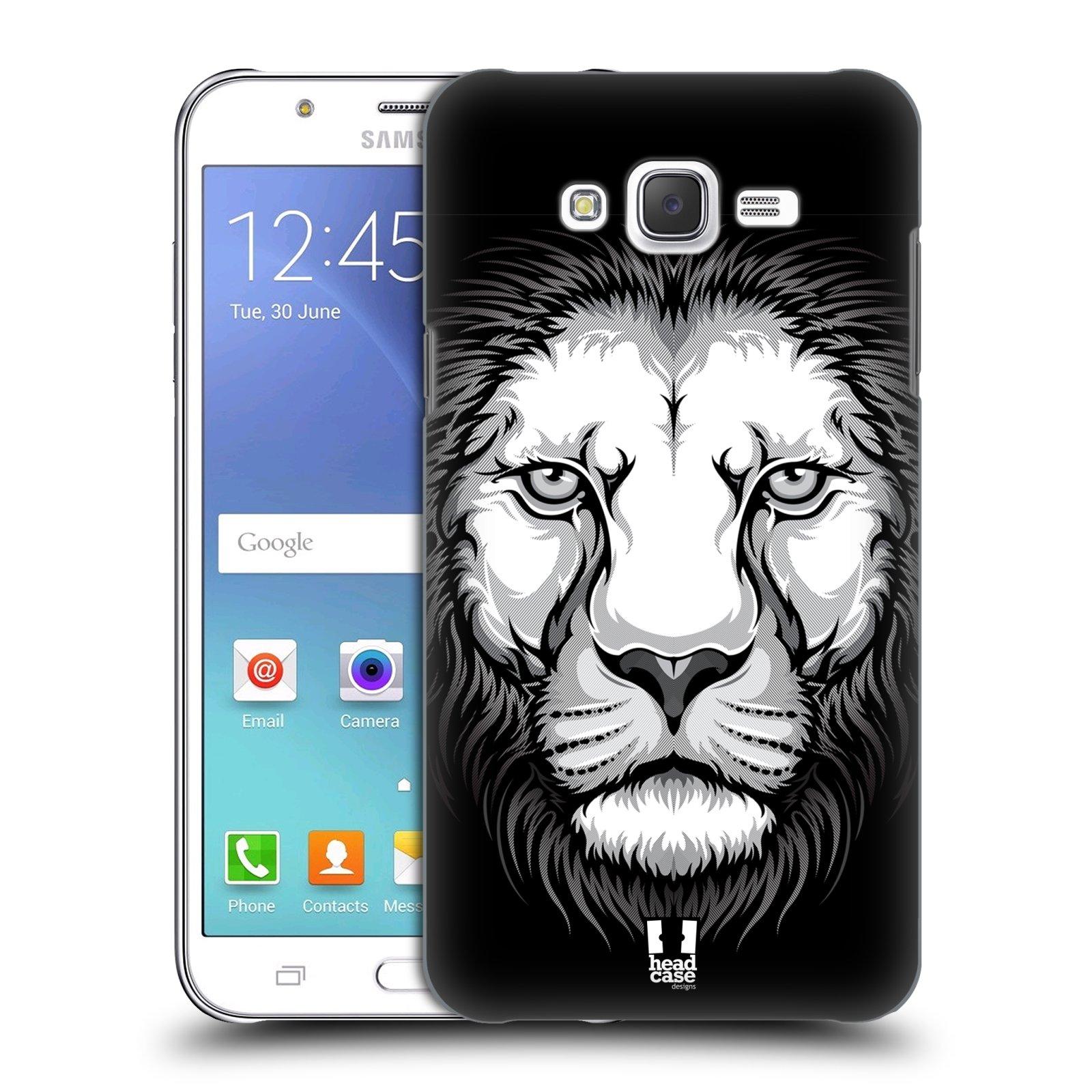 HEAD CASE plastový obal na mobil SAMSUNG Galaxy J7, J700 vzor Zvíře kreslená tvář lev
