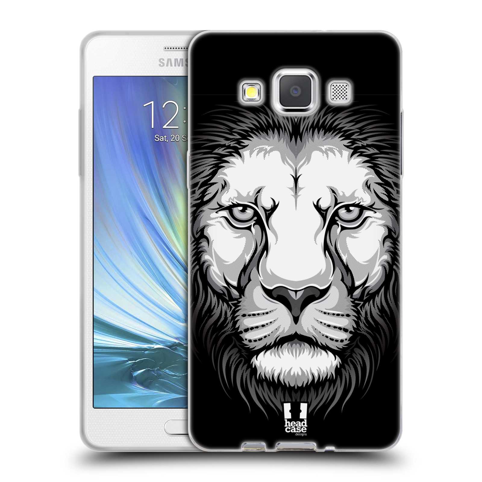 HEAD CASE silikonový obal na mobil Samsung Galaxy A5 vzor Zvíře kreslená tvář lev