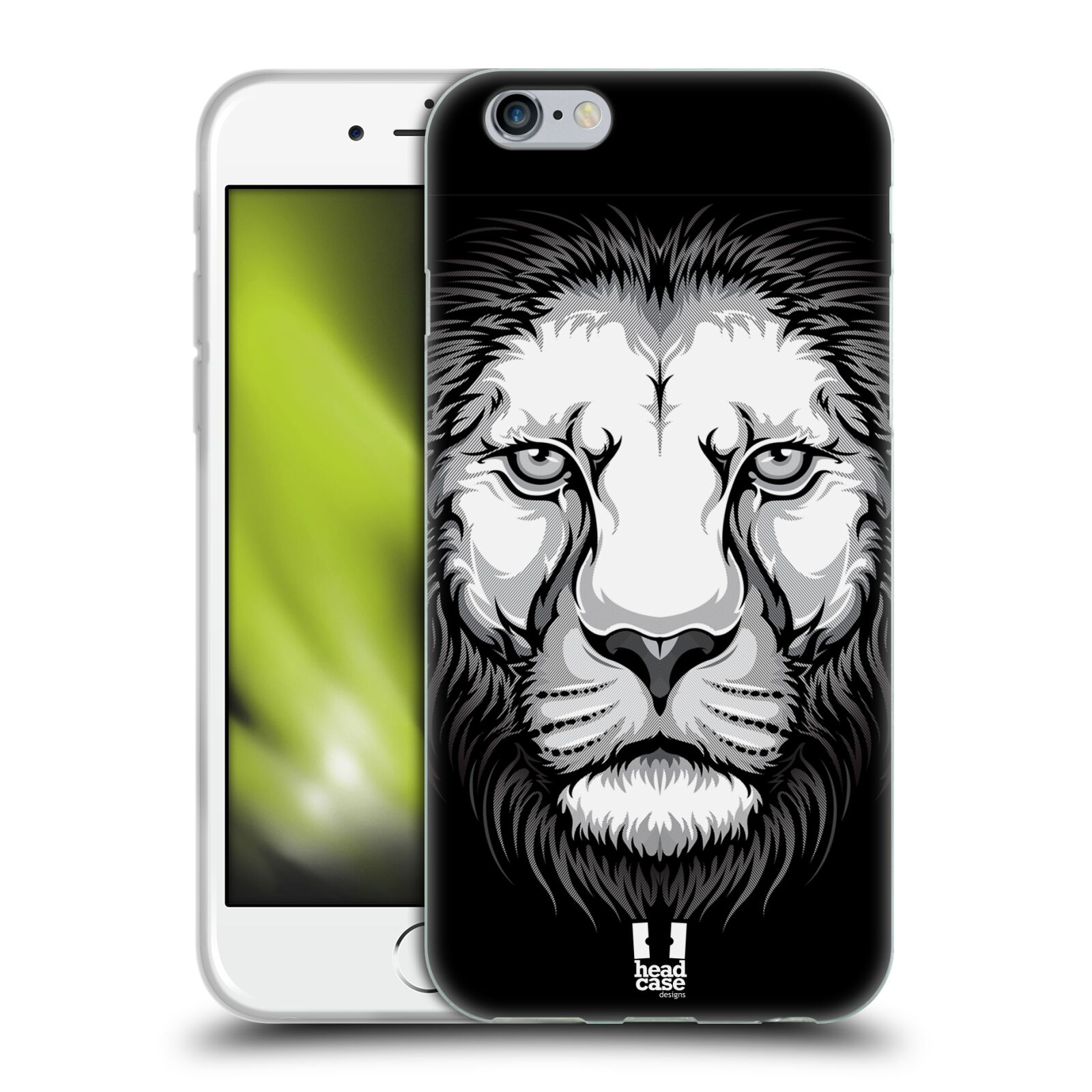 HEAD CASE silikonový obal na mobil Apple Iphone 6/6S vzor Zvíře kreslená tvář lev