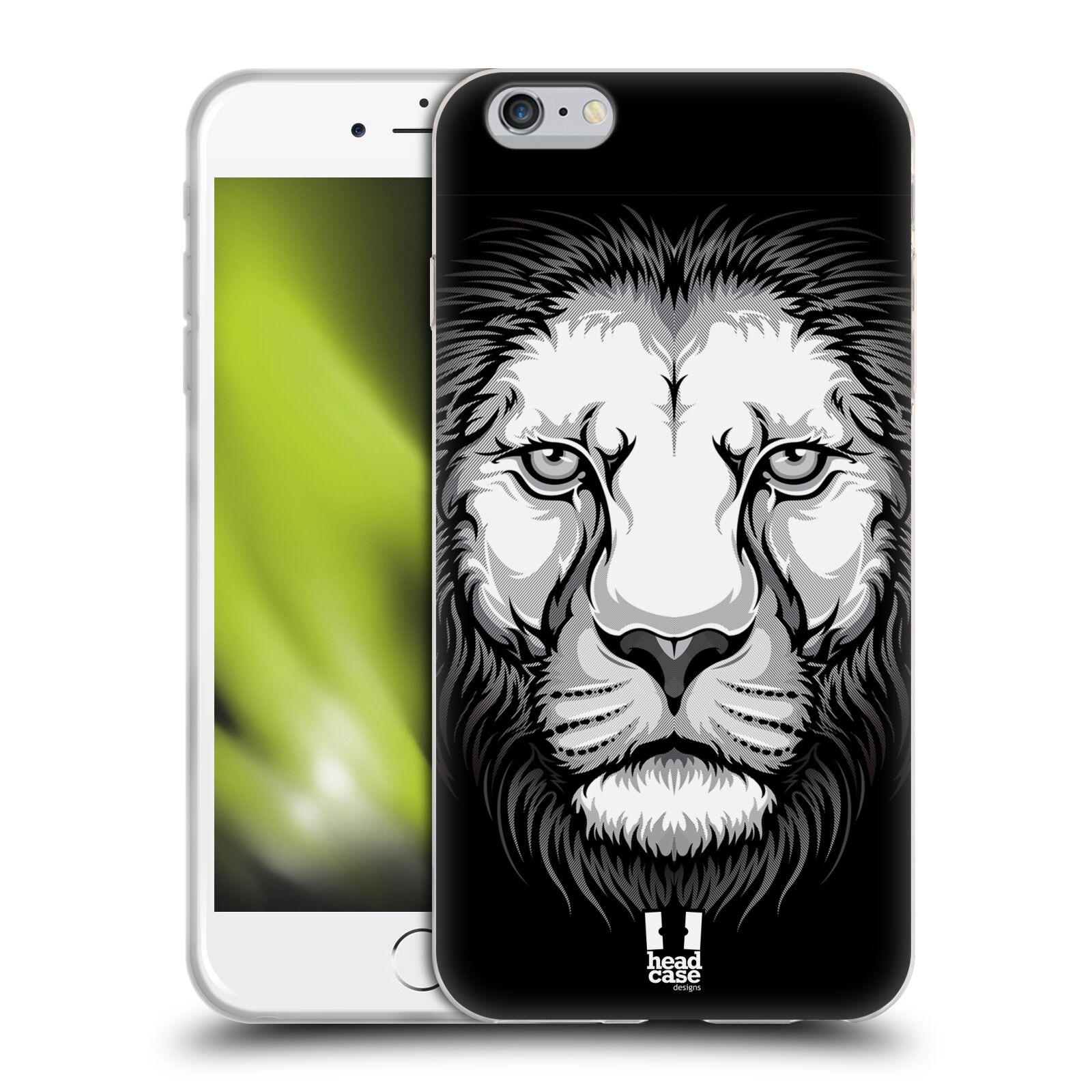 HEAD CASE silikonový obal na mobil Apple Iphone 6 PLUS/ 6S PLUS vzor Zvíře kreslená tvář lev