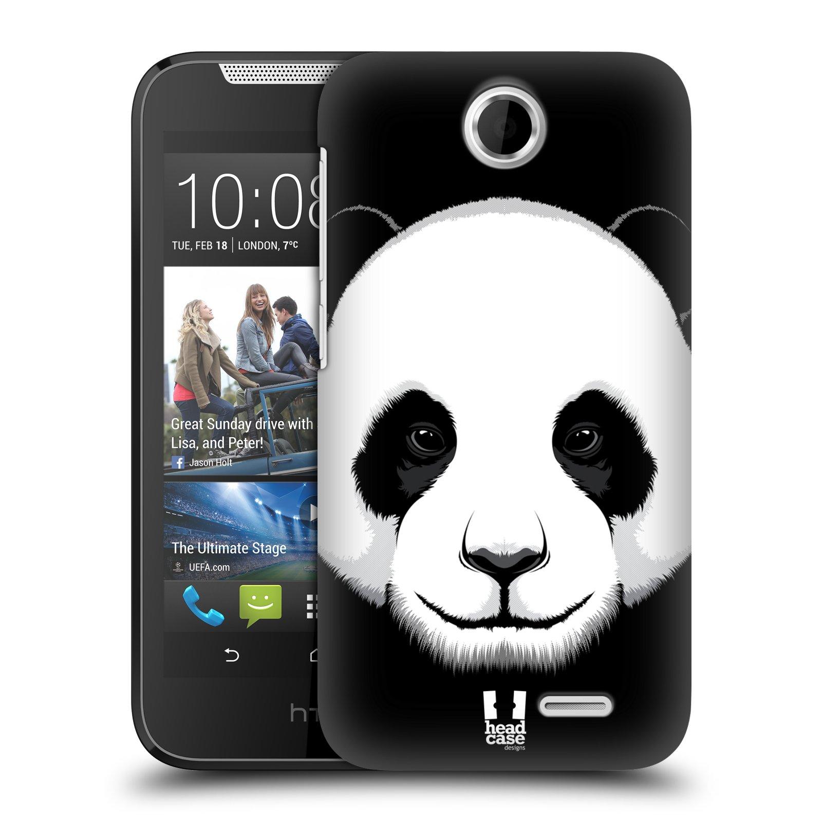 HEAD CASE plastový obal na mobil HTC Desire 310 vzor Zvíře kreslená tvář panda