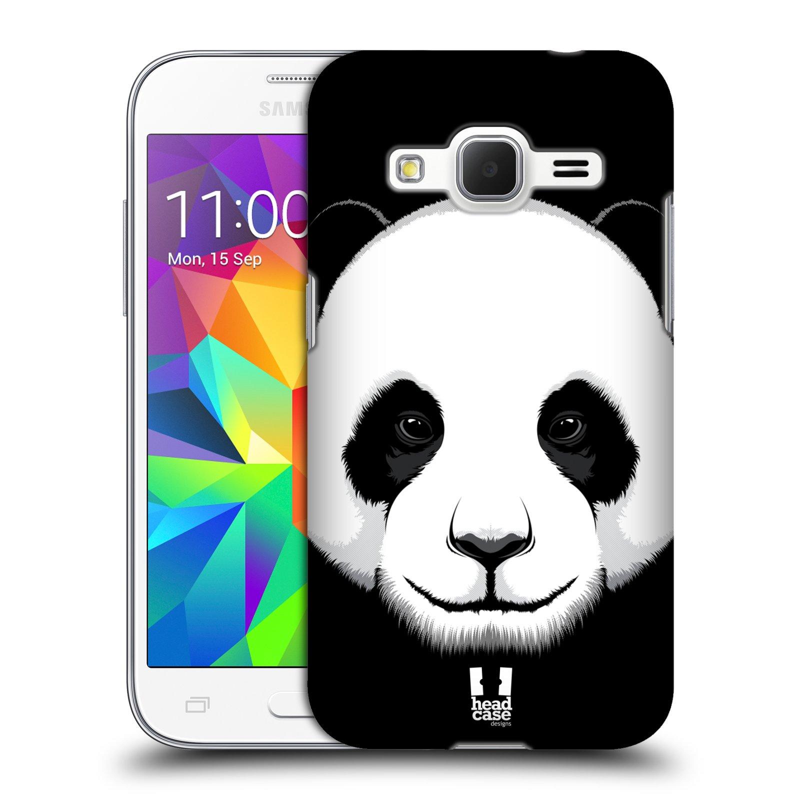 HEAD CASE plastový obal na mobil SAMSUNG GALAXY Core Prime (Core Prime VE) vzor Zvíře kreslená tvář panda