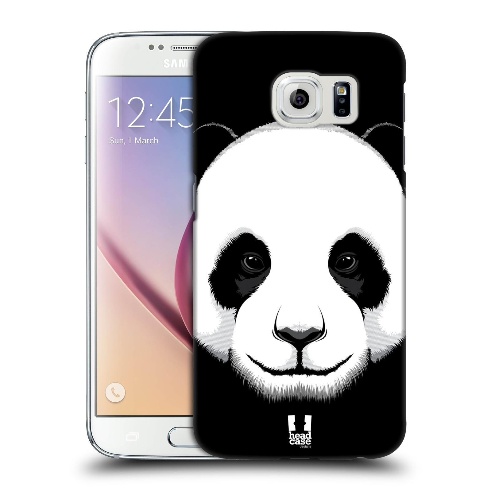 HEAD CASE plastový obal na mobil SAMSUNG Galaxy S6 (G9200, G920F) vzor Zvíře kreslená tvář panda