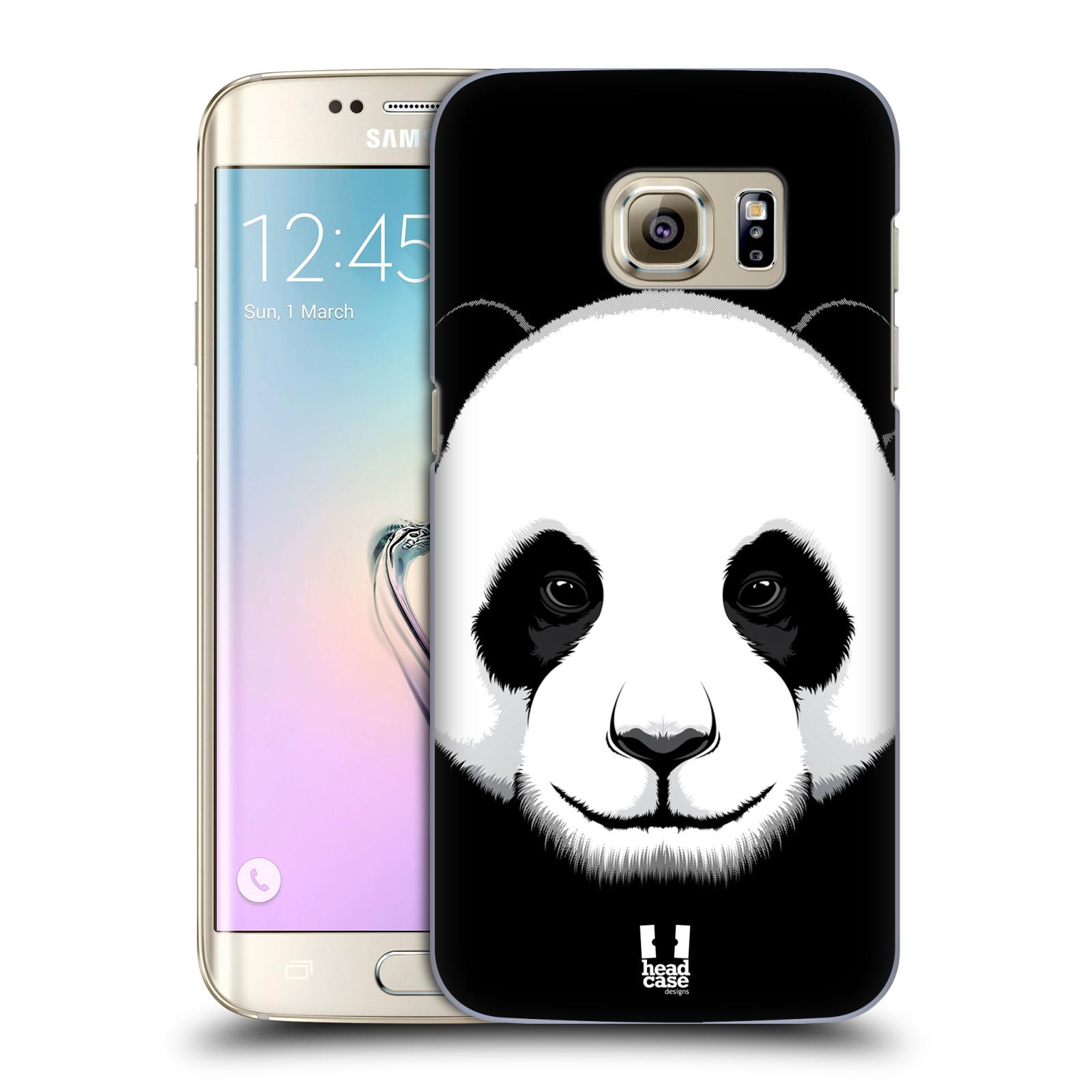 HEAD CASE plastový obal na mobil SAMSUNG GALAXY S7 EDGE vzor Zvíře kreslená tvář panda