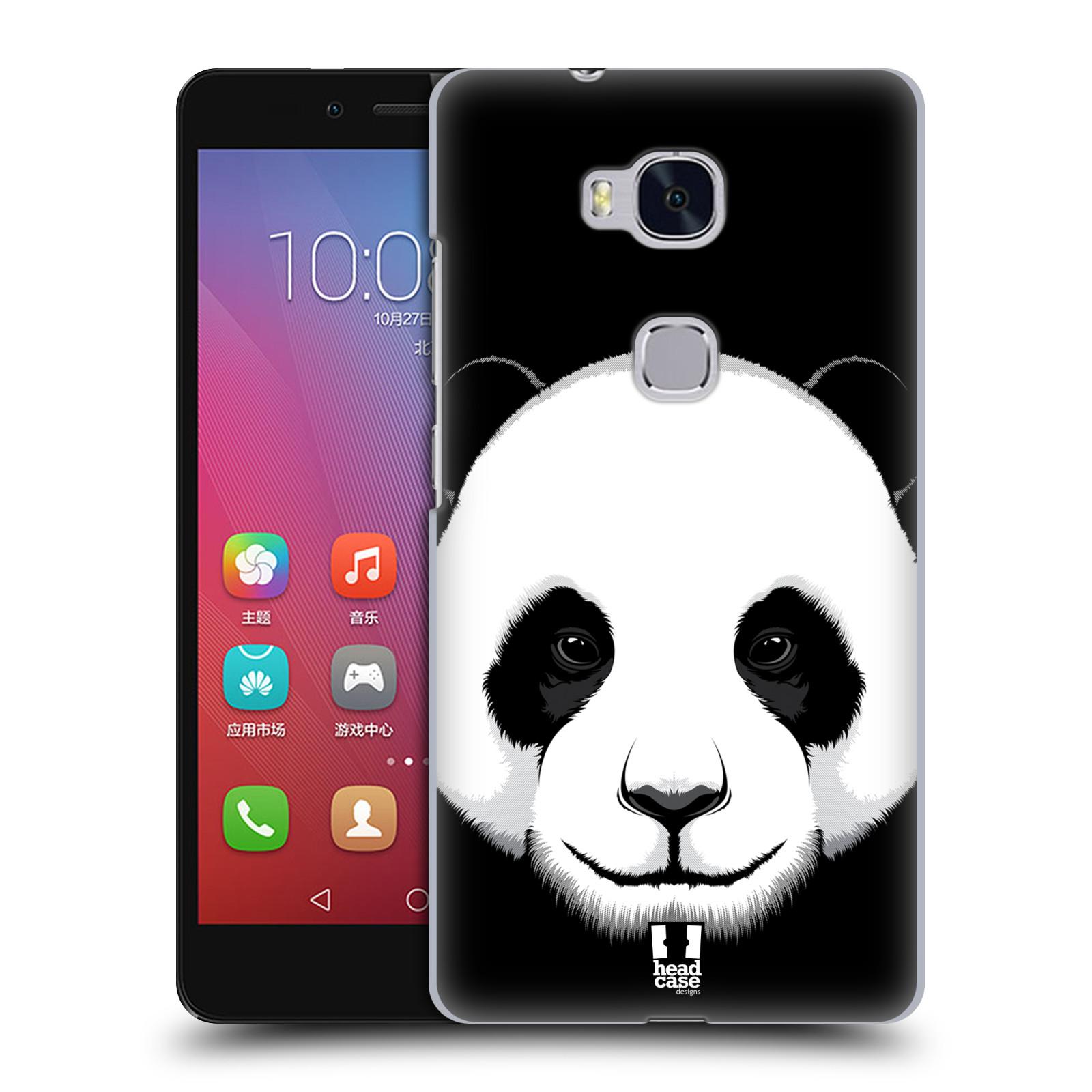 HEAD CASE pevný plastový obal na mobil HUAWEI HONOR 5X vzor Zvíře kreslená tvář panda