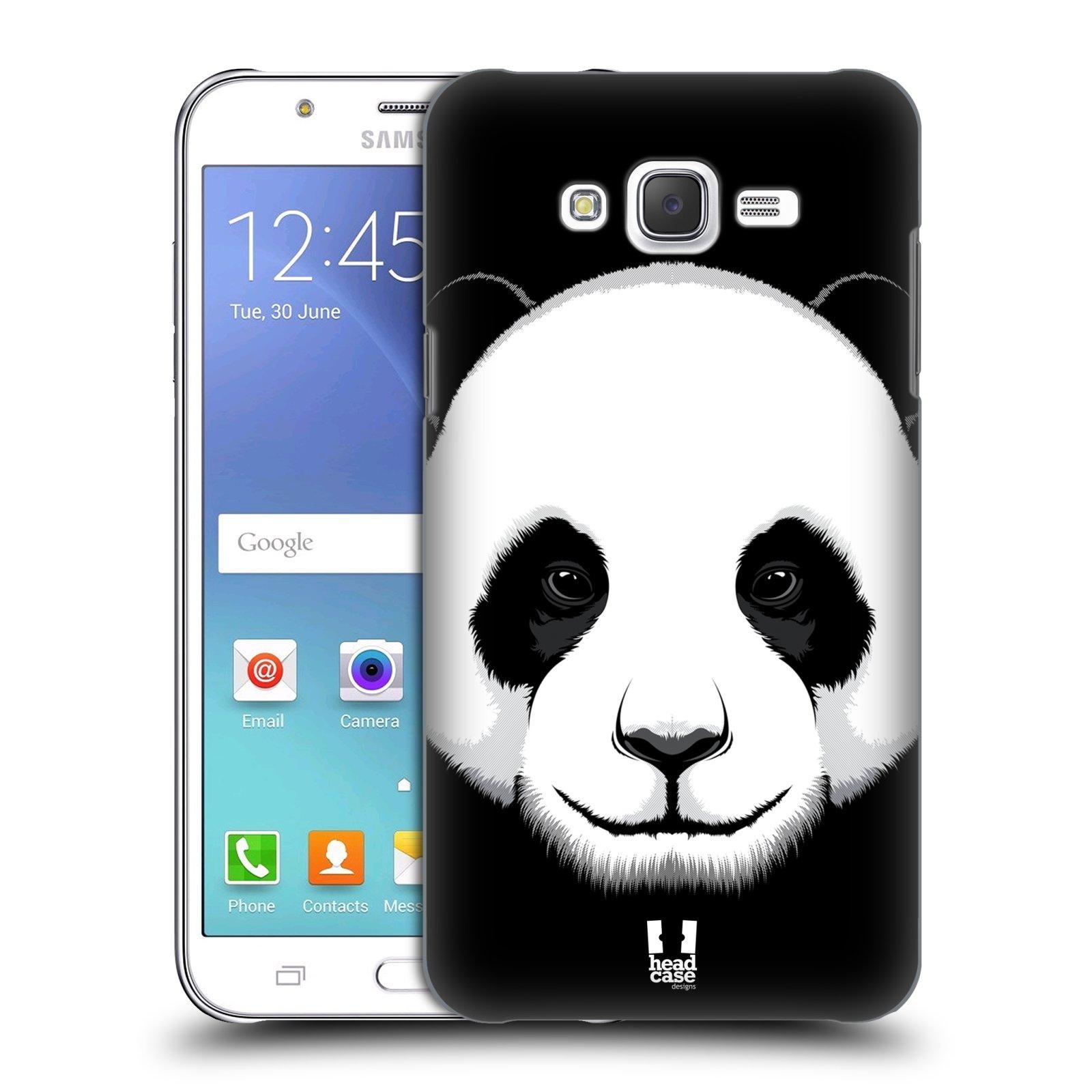 HEAD CASE plastový obal na mobil SAMSUNG Galaxy J7, J700 vzor Zvíře kreslená tvář panda