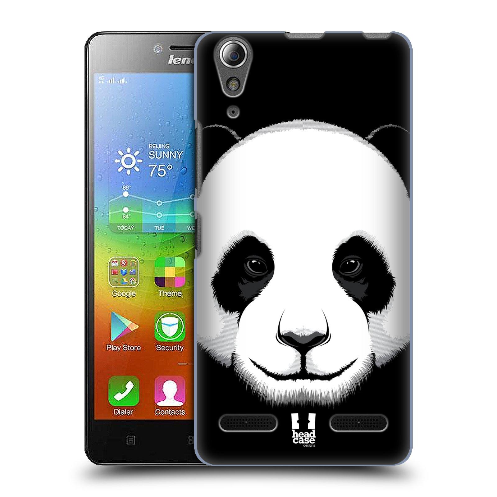 HEAD CASE pevný plastový obal na mobil LENOVO A6000 / A6000 PLUS vzor Zvíře kreslená tvář panda