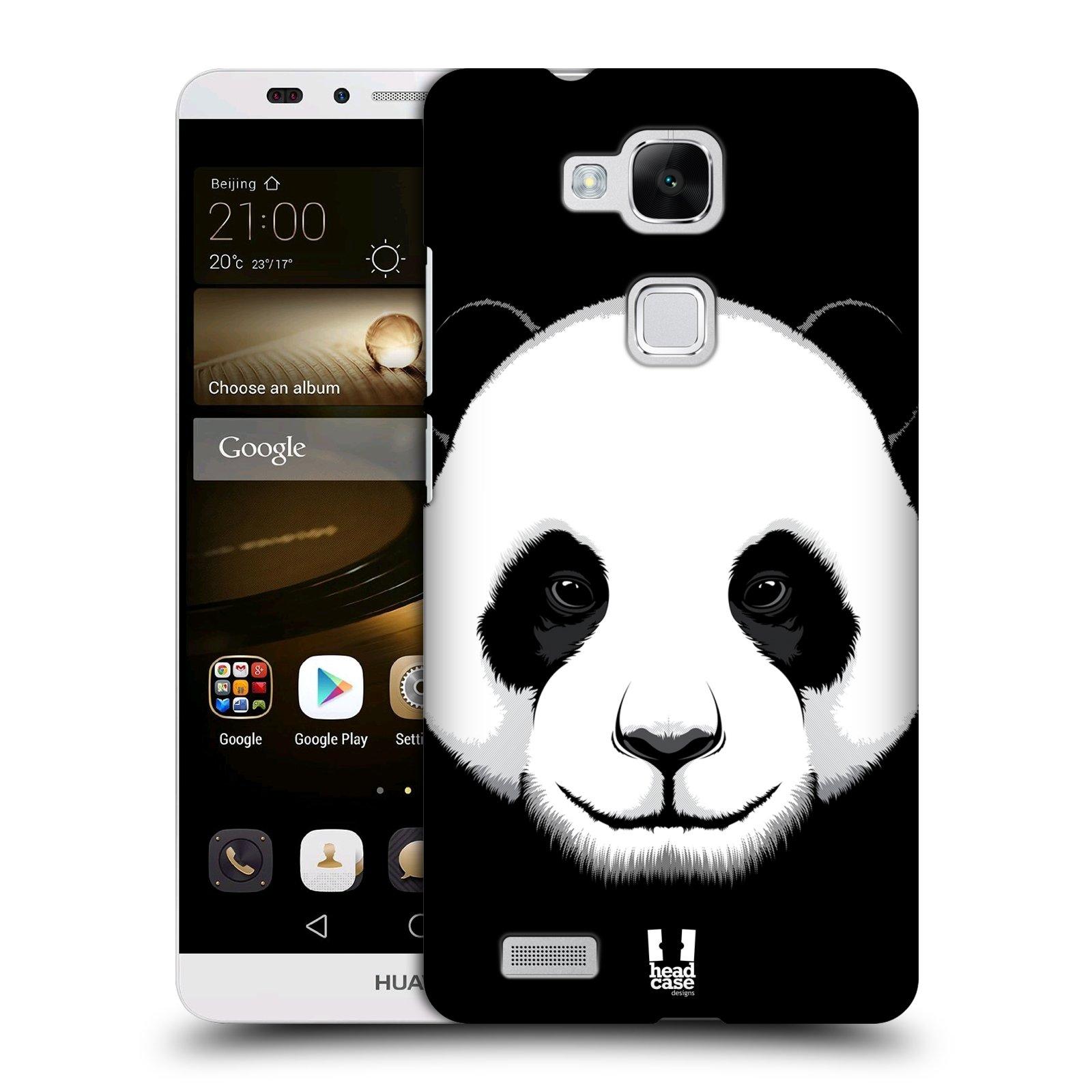 HEAD CASE plastový obal na mobil Huawei Mate 7 vzor Zvíře kreslená tvář panda