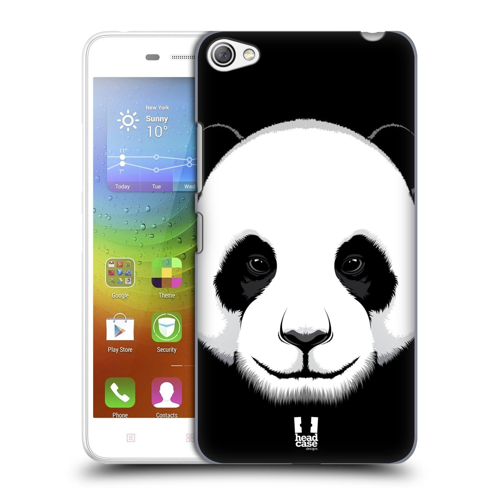 HEAD CASE pevný plastový obal na mobil LENOVO S60 / LENOVO S60 DUAL SIM vzor Zvíře kreslená tvář panda