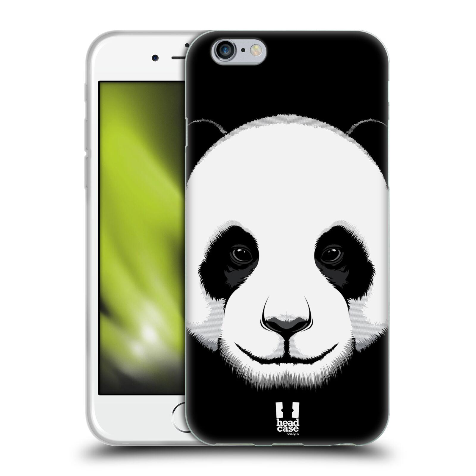 HEAD CASE silikonový obal na mobil Apple Iphone 6/6S vzor Zvíře kreslená tvář panda