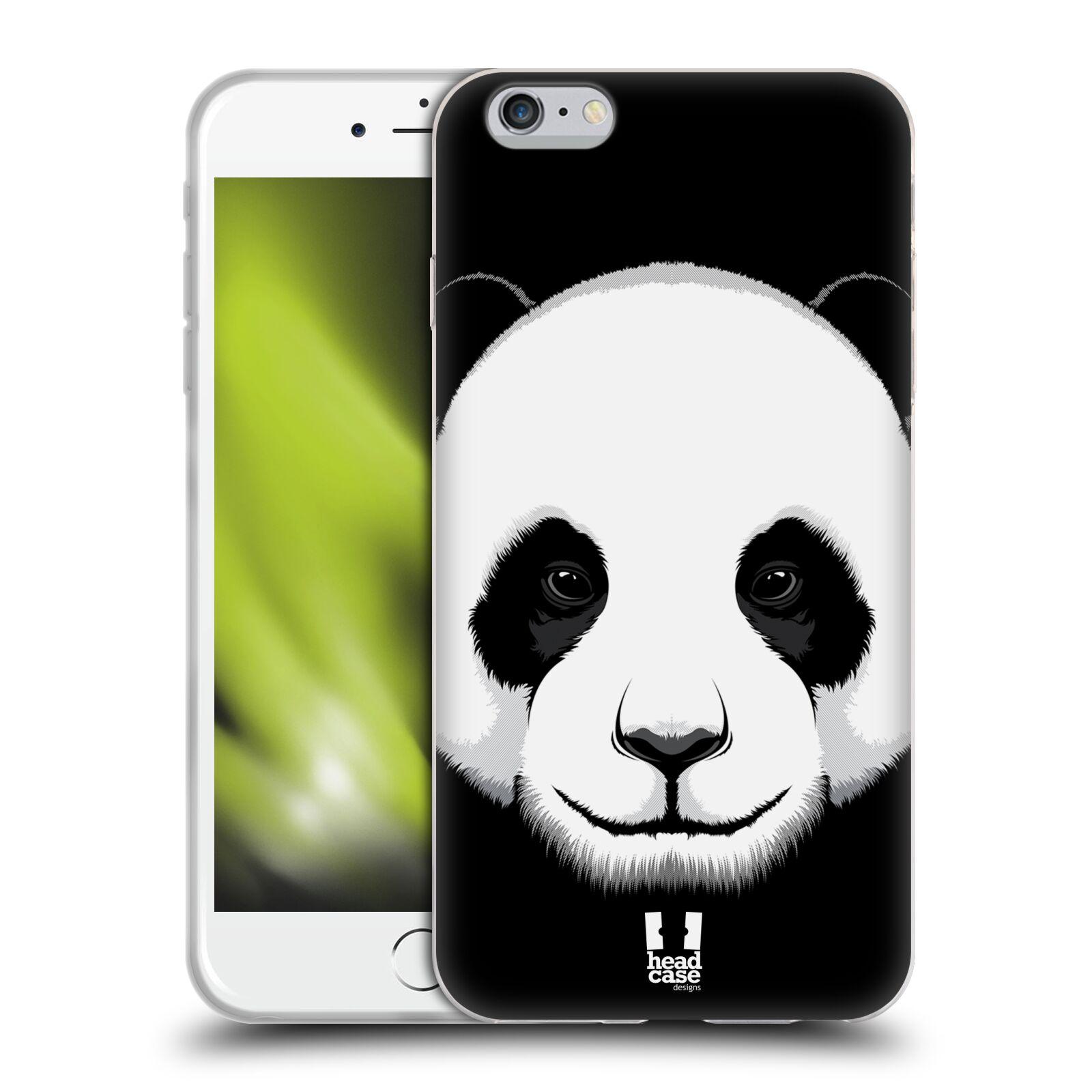 HEAD CASE silikonový obal na mobil Apple Iphone 6 PLUS/ 6S PLUS vzor Zvíře kreslená tvář panda