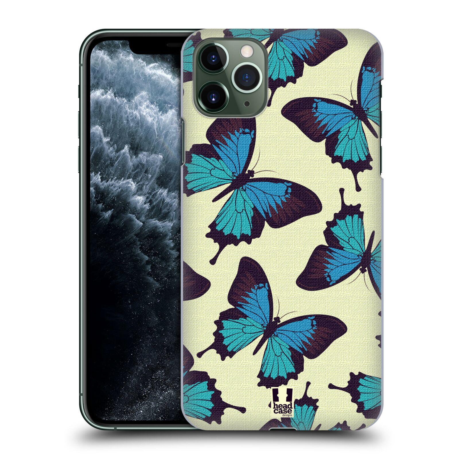 Pouzdro na mobil Apple Iphone 11 PRO MAX - HEAD CASE - vzor Motýlci modrá