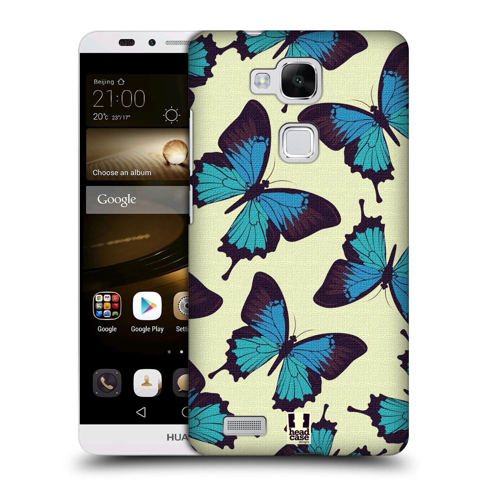 HEAD CASE plastový obal na mobil Huawei Mate 7 vzor Motýlci modrá