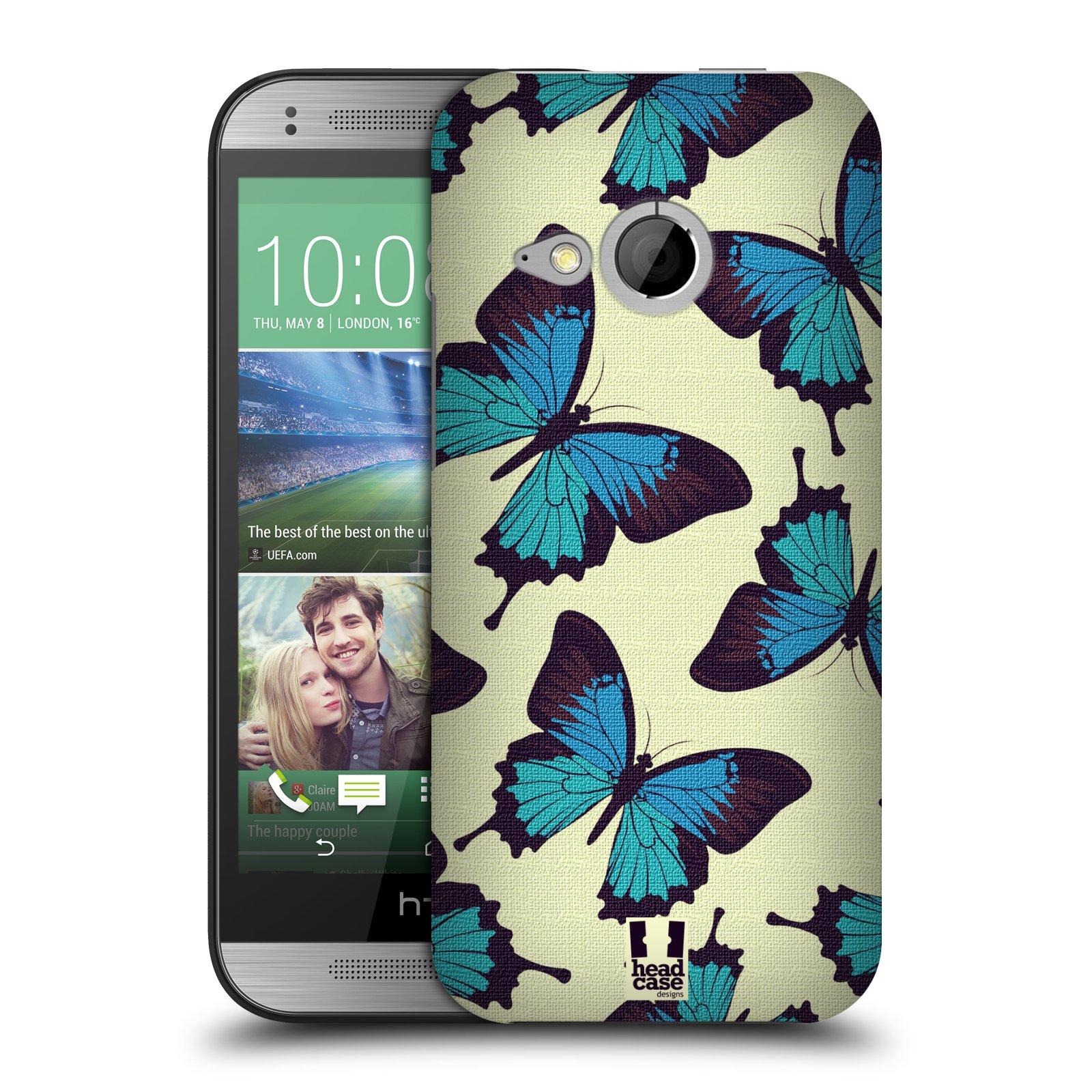 HEAD CASE DESIGNS BUTTERFLY PATTERN HARD BACK CASE FOR HTC ONE MINI 2