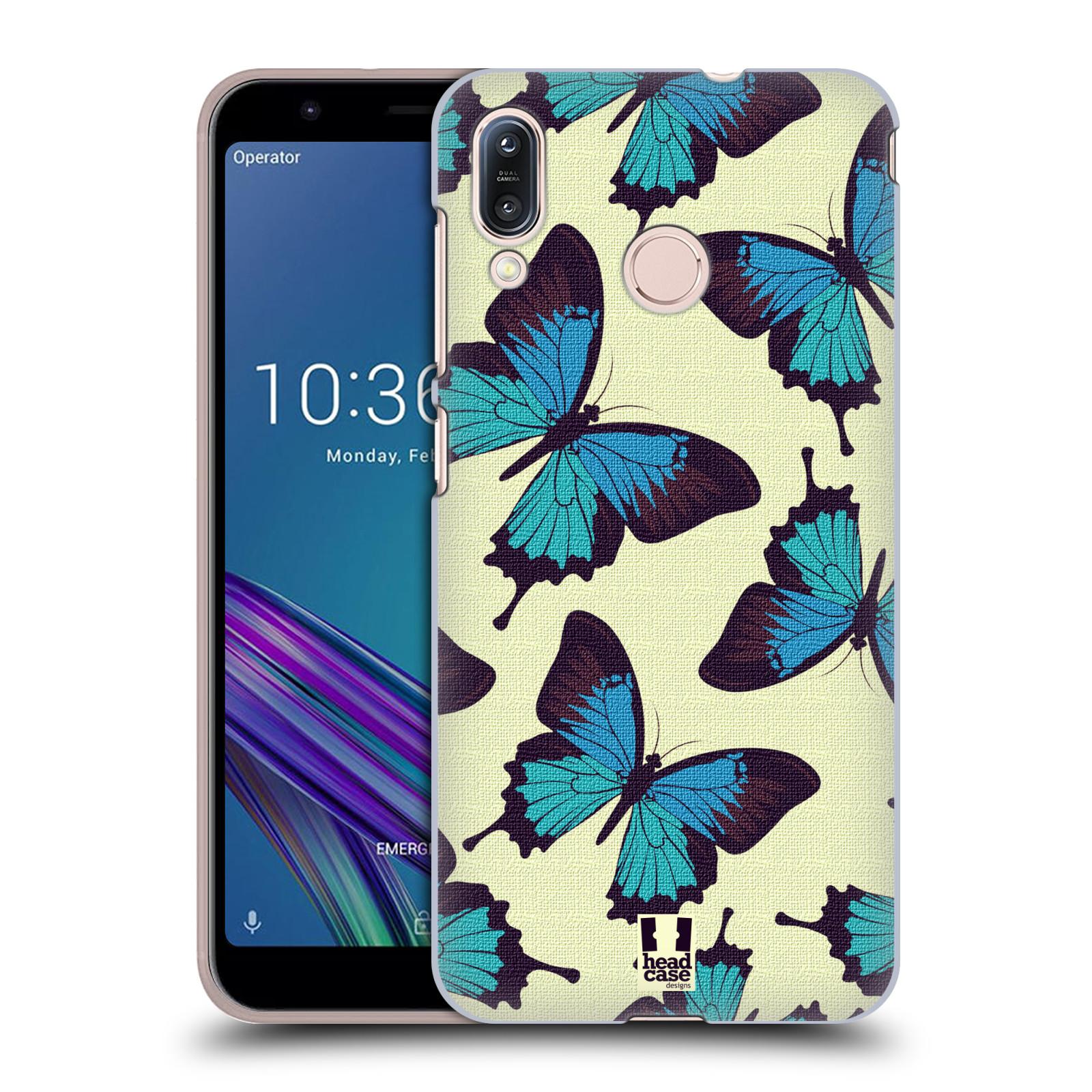 Pouzdro na mobil Asus Zenfone Max M1 (ZB555KL) - HEAD CASE - vzor Motýlci modrá