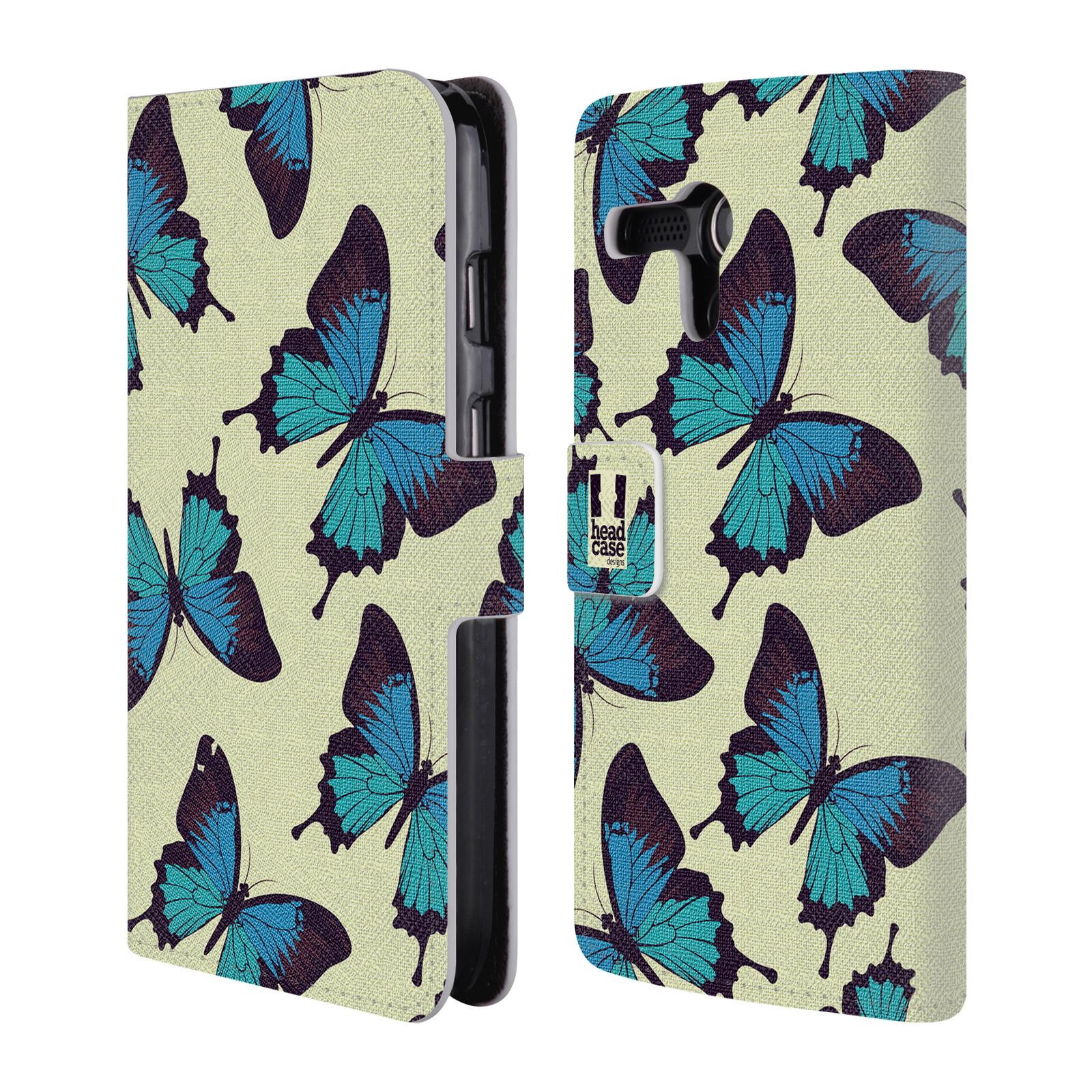 HEAD CASE Flipové pouzdro pro mobil MOTOROLA MOTO G Vzorkovaný motýl modrá