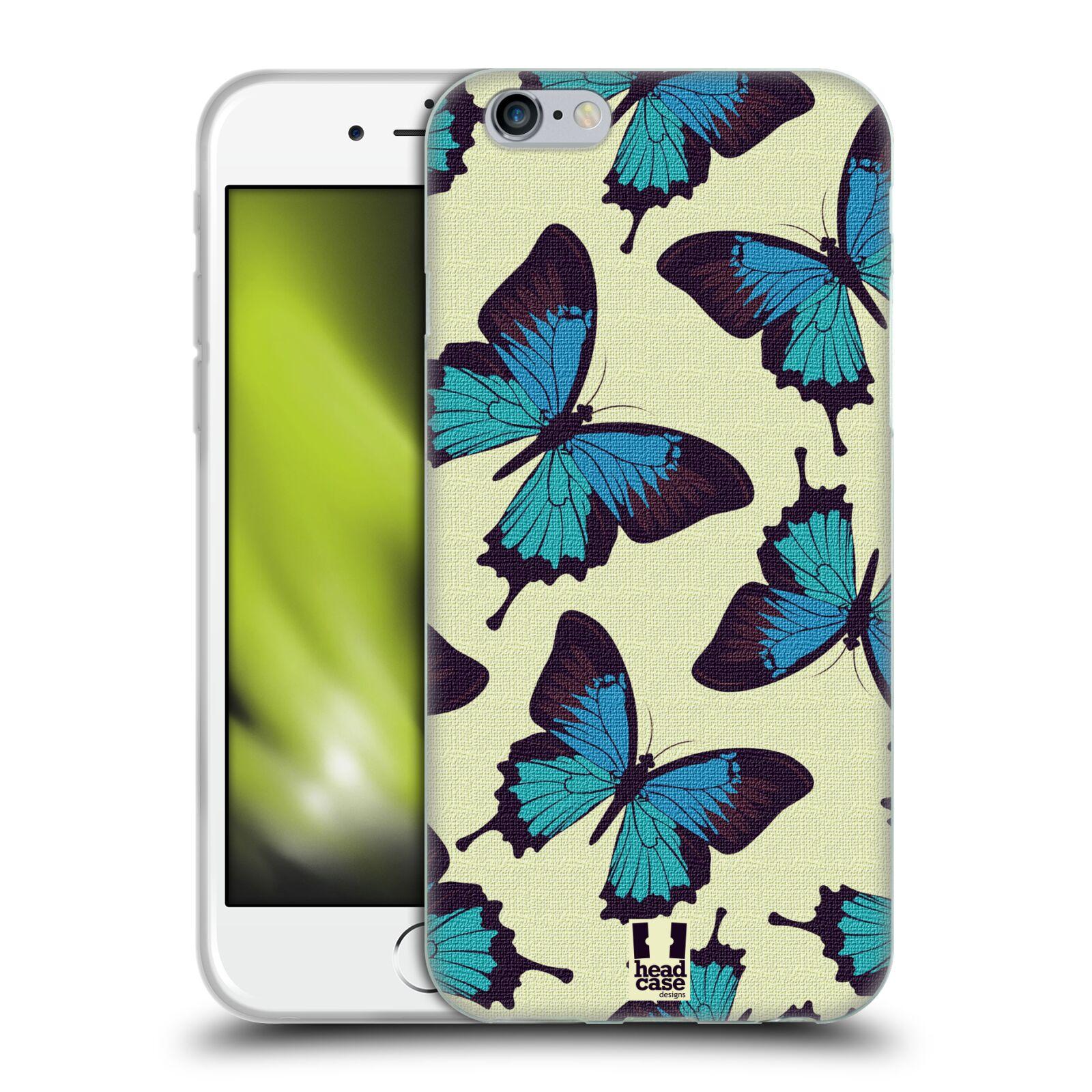 HEAD CASE silikonový obal na mobil Apple Iphone 6/6S vzor Motýlci modrá