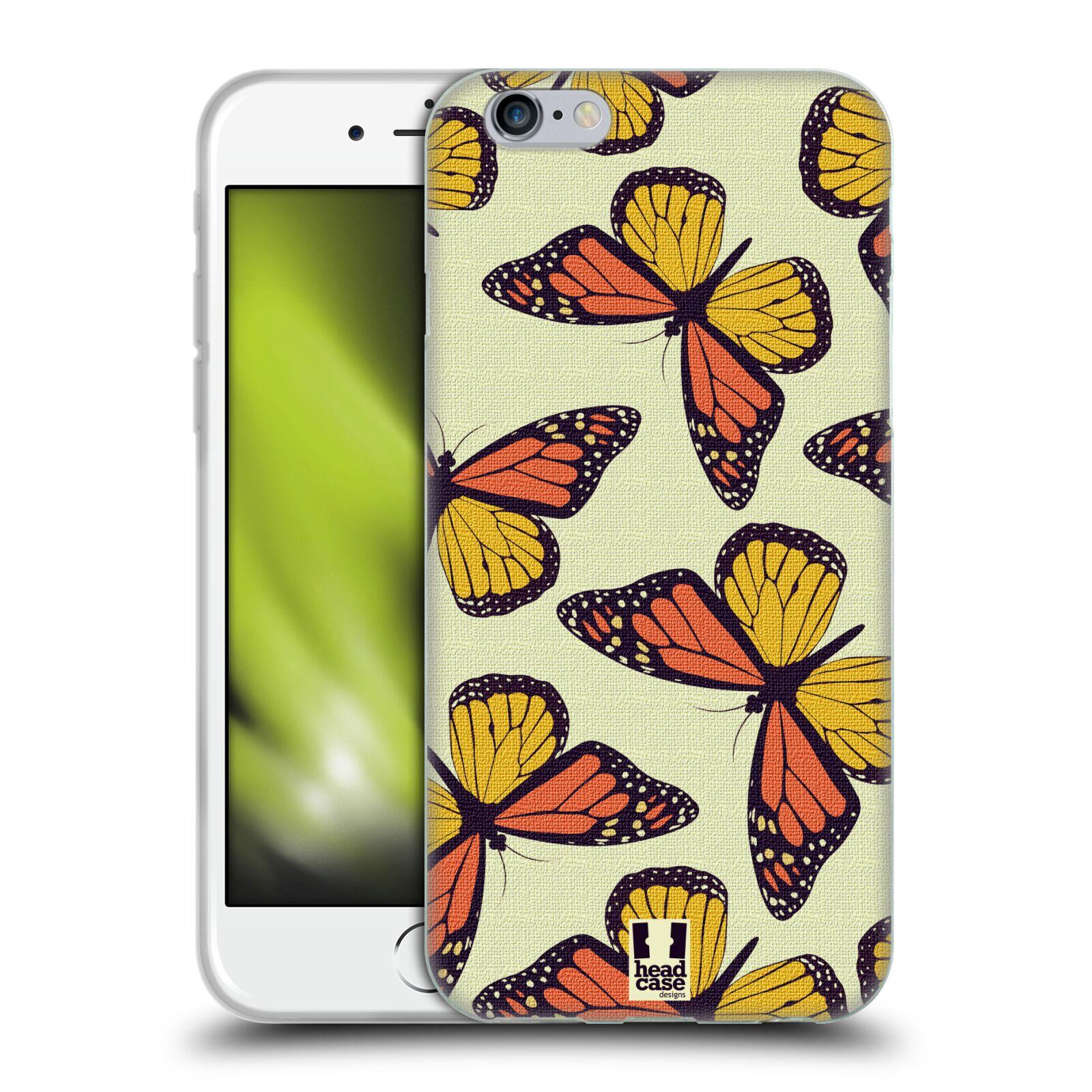HEAD CASE silikonový obal na mobil Apple Iphone 6/6S vzor Motýlci Monarcha