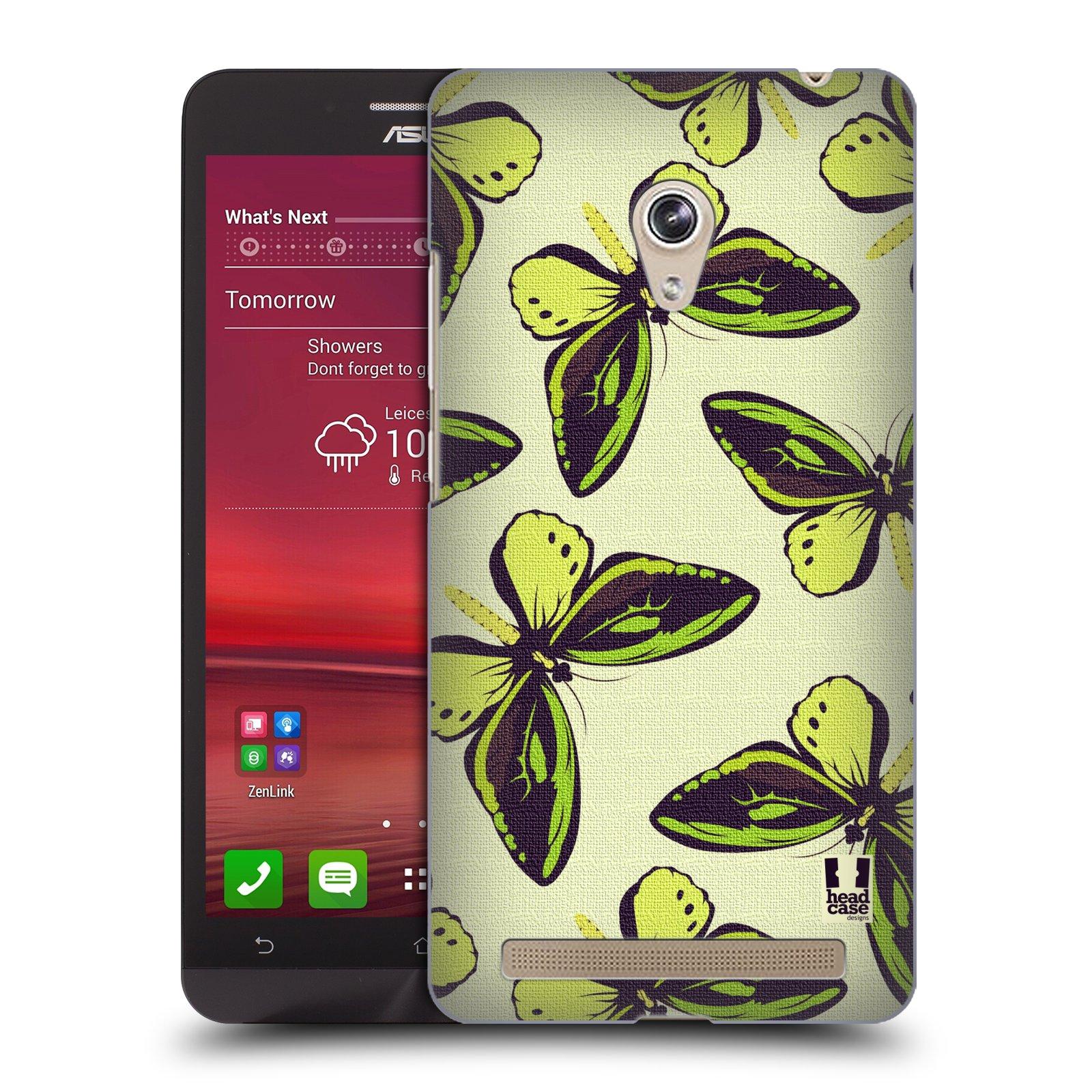 HEAD CASE plastový obal na mobil Asus Zenfone 6 vzor Motýlci Poseidon zelená
