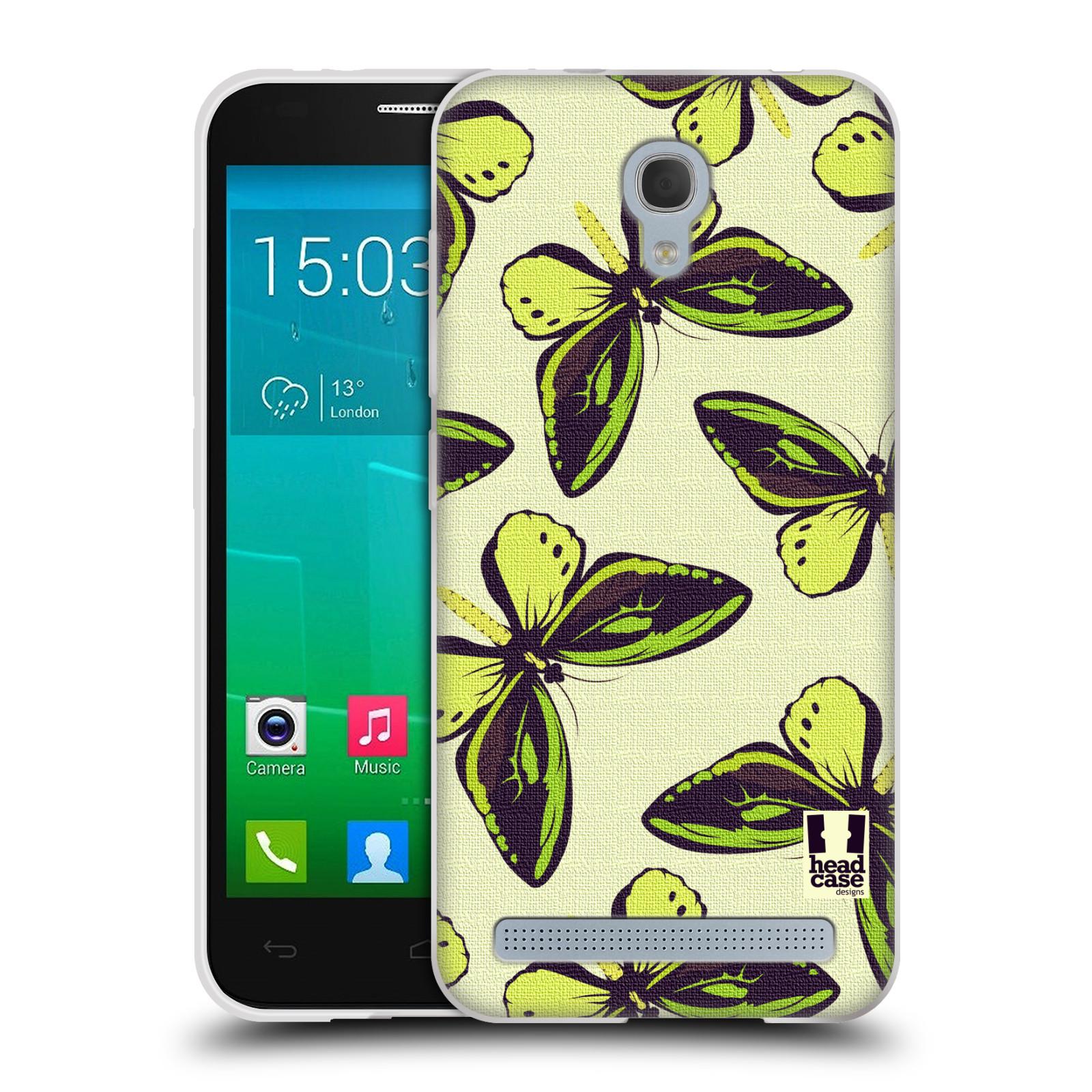 HEAD CASE silikonový obal na mobil Alcatel Idol 2 MINI S 6036Y vzor Motýlci Poseidon zelená