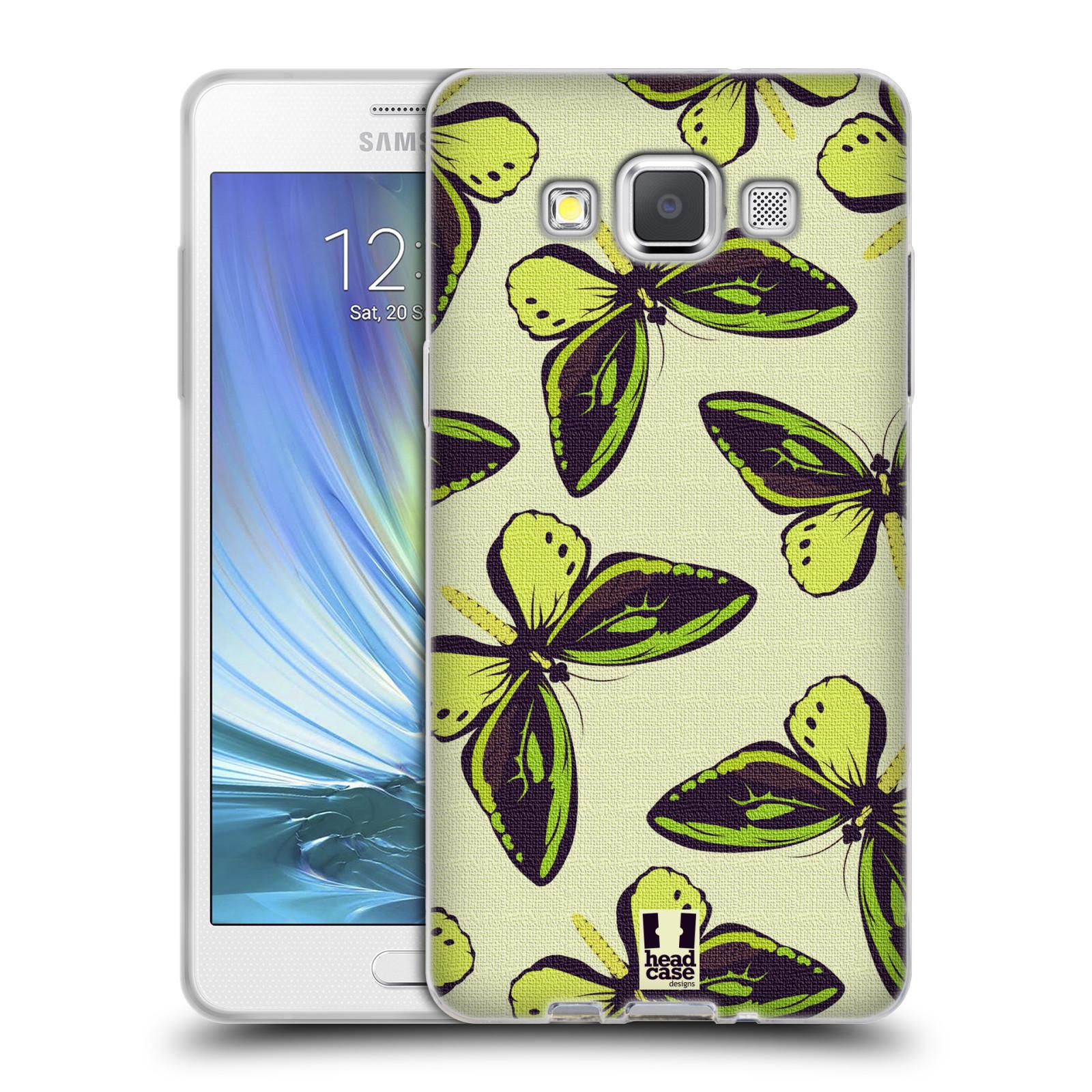 HEAD CASE silikonový obal na mobil Samsung Galaxy A5 vzor Motýlci Poseidon zelená