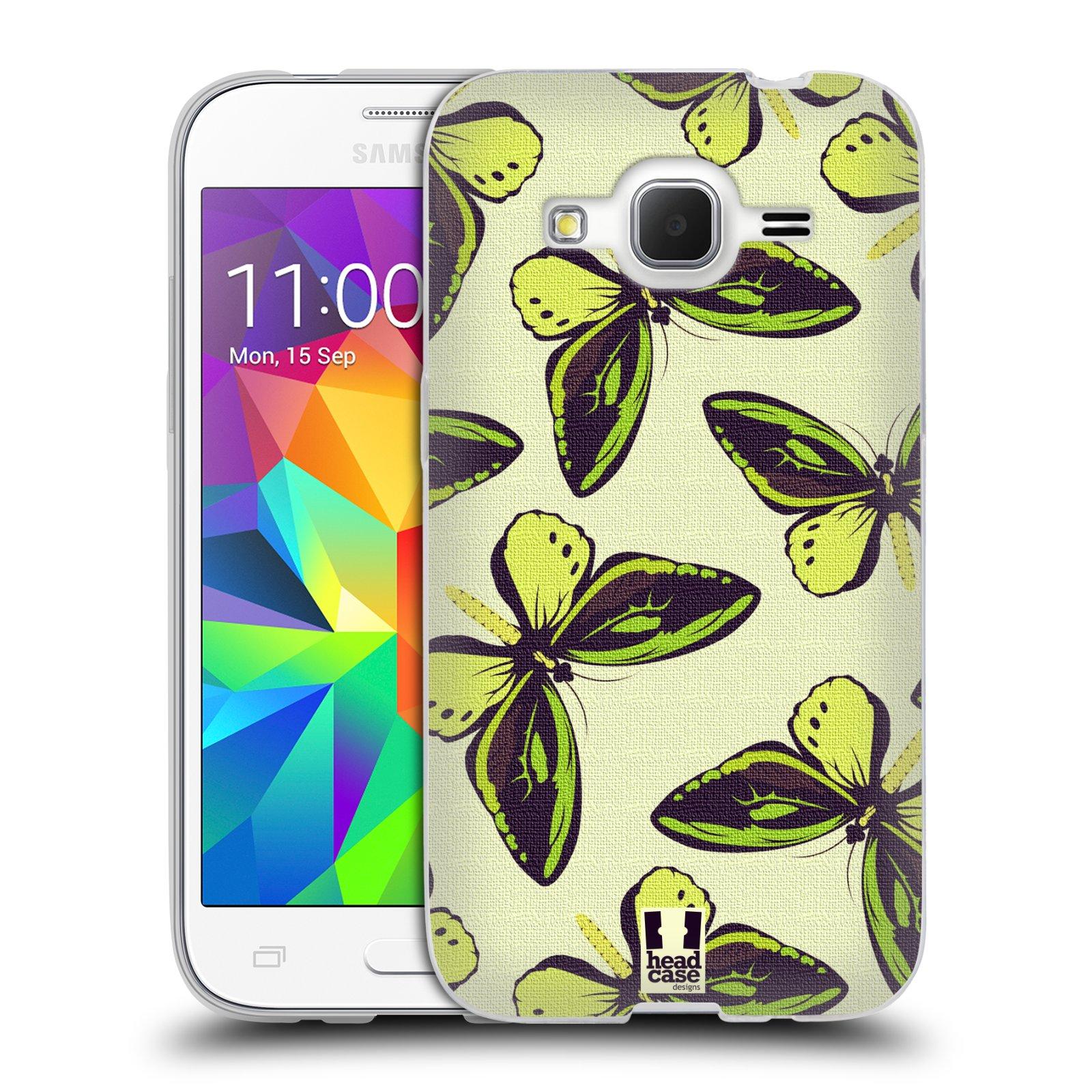 HEAD CASE silikonový obal na mobil Samsung Galaxy Core Prime (G360) vzor Motýlci Poseidon zelená