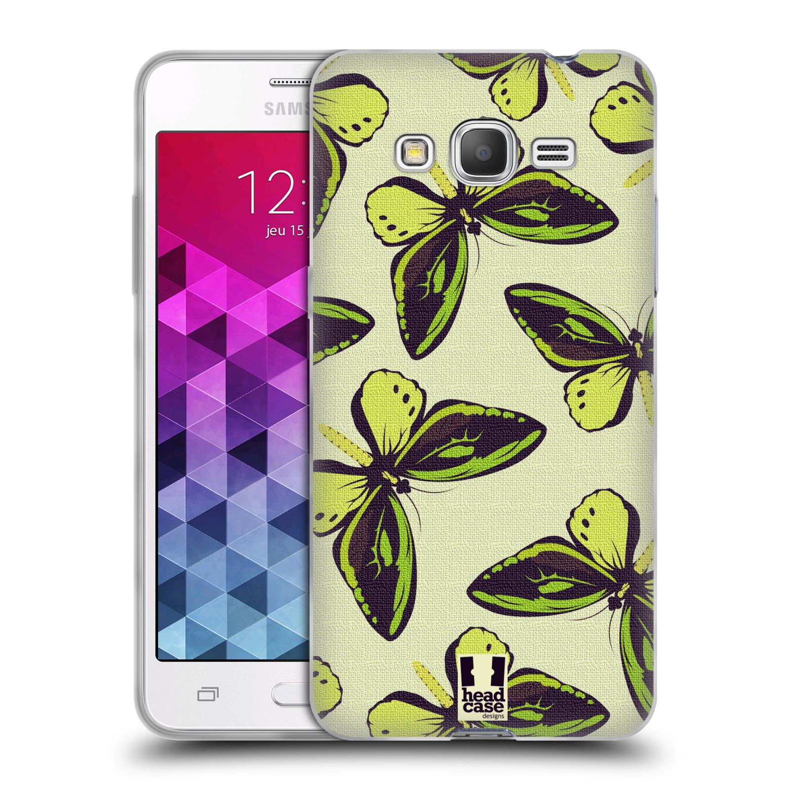 HEAD CASE silikonový obal na mobil Samsung Galaxy GRAND PRIME vzor Motýlci Poseidon zelená