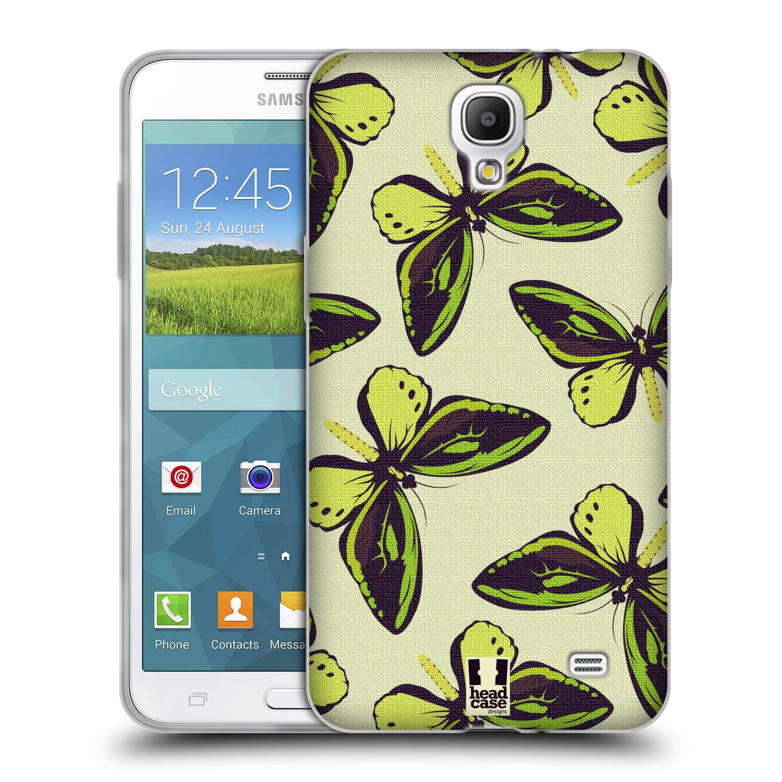 HEAD CASE silikonový obal na mobil Samsung Galaxy Mega 2 vzor Motýlci Poseidon zelená