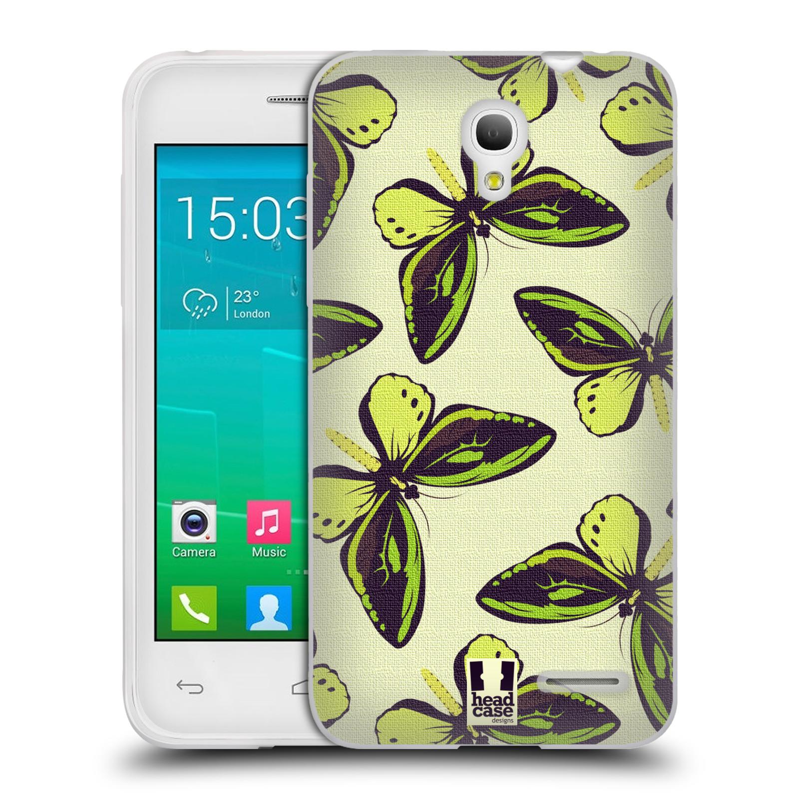 HEAD CASE silikonový obal na mobil Alcatel POP S3 OT-5050Y vzor Motýlci Poseidon zelená