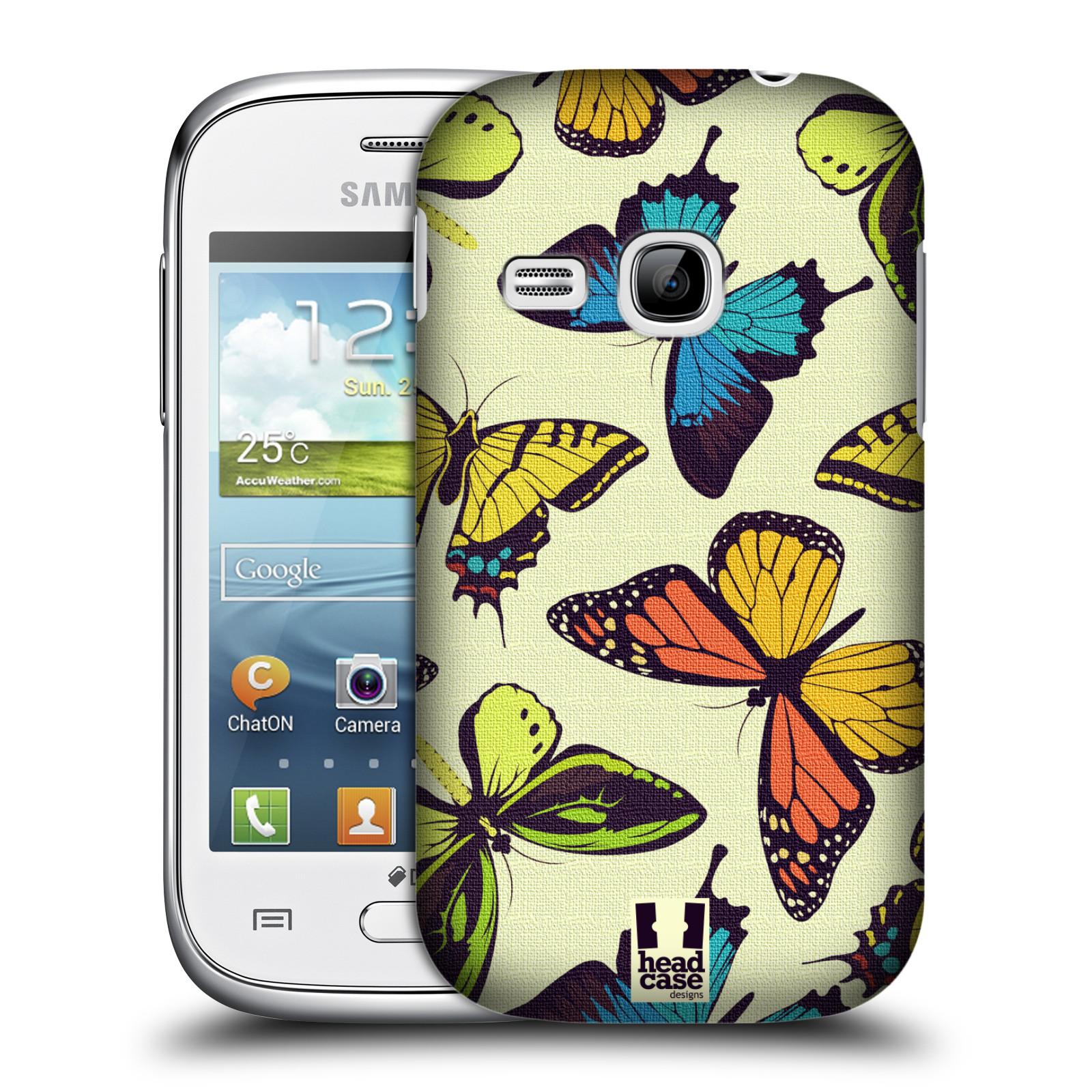 HEAD CASE plastový obal na mobil SAMSUNG Galaxy Young S6310 vzor Motýlci divočina