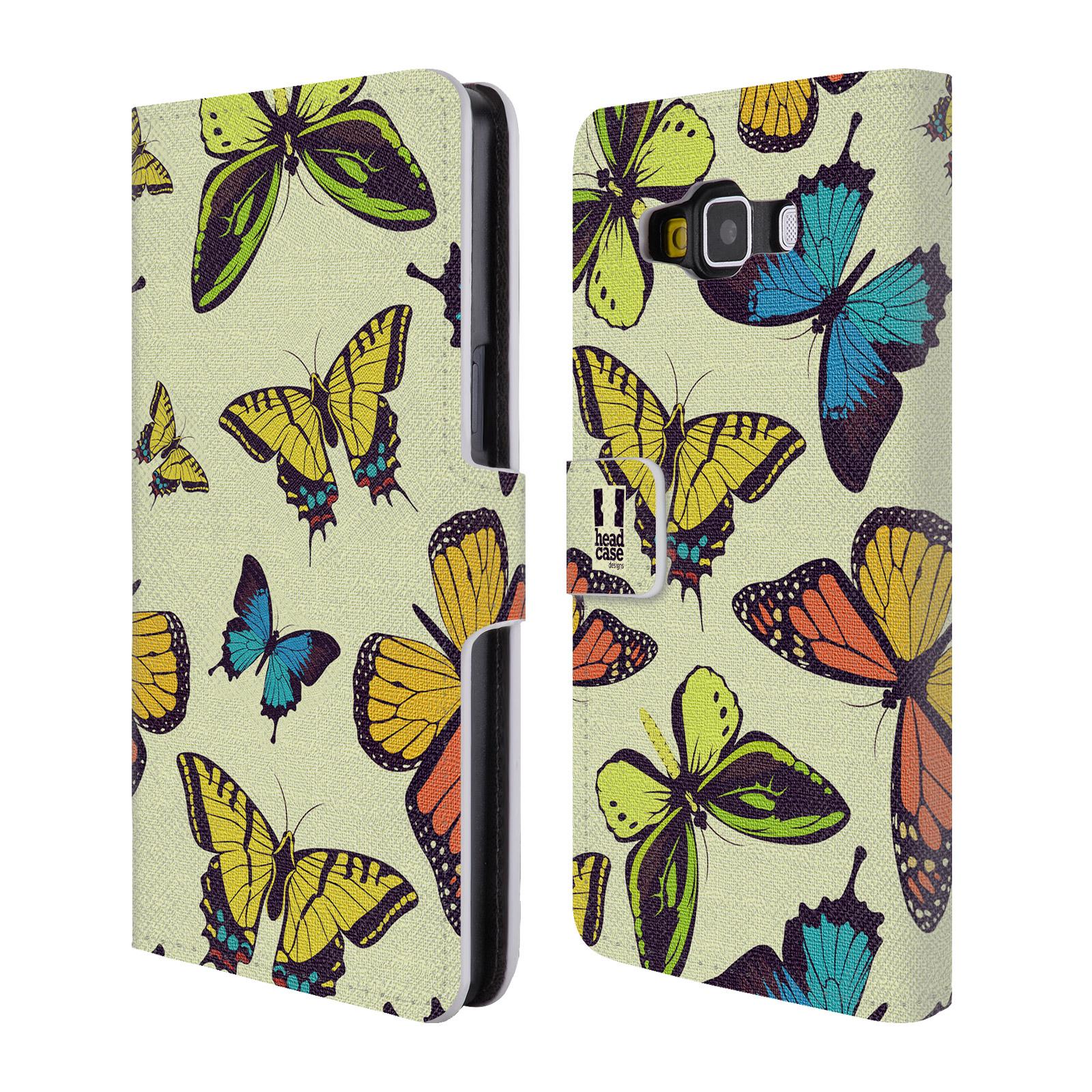 HEAD CASE Flipové pouzdro pro mobil Samsung Galaxy A5 Vzorkovaný motýl MIX