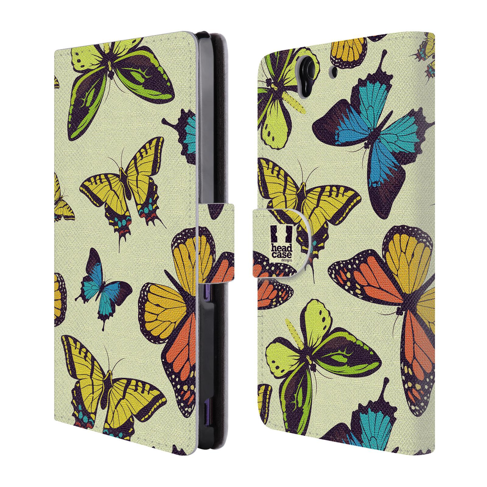 HEAD CASE Flipové pouzdro pro mobil SONY XPERIA Z (C6603) Vzorkovaný motýl MIX