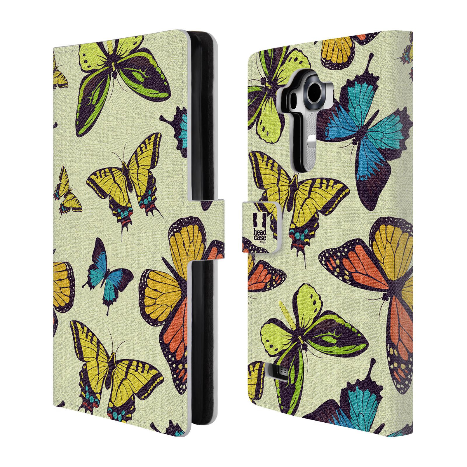 HEAD CASE Flipové pouzdro pro mobil LG G4 (H815) Vzorkovaný motýl MIX