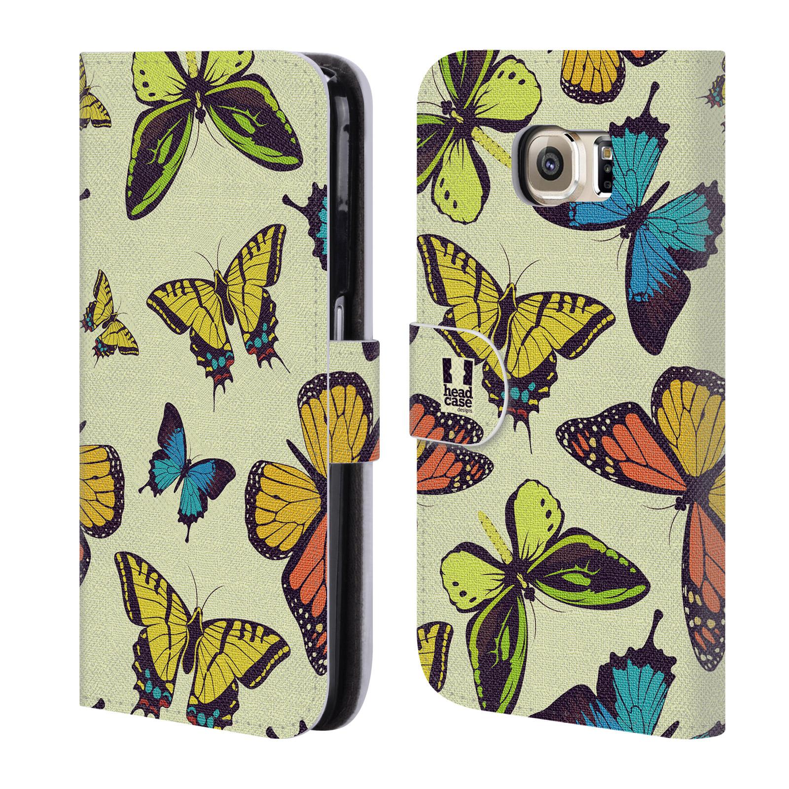 HEAD CASE Flipové pouzdro pro mobil Samsung Galaxy S6 (G9200) Vzorkovaný motýl MIX