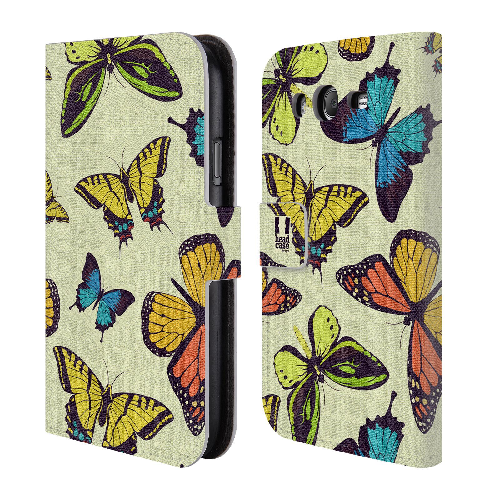 HEAD CASE Flipové pouzdro pro mobil Samsung Galaxy Grand i9080 Vzorkovaný motýl MIX