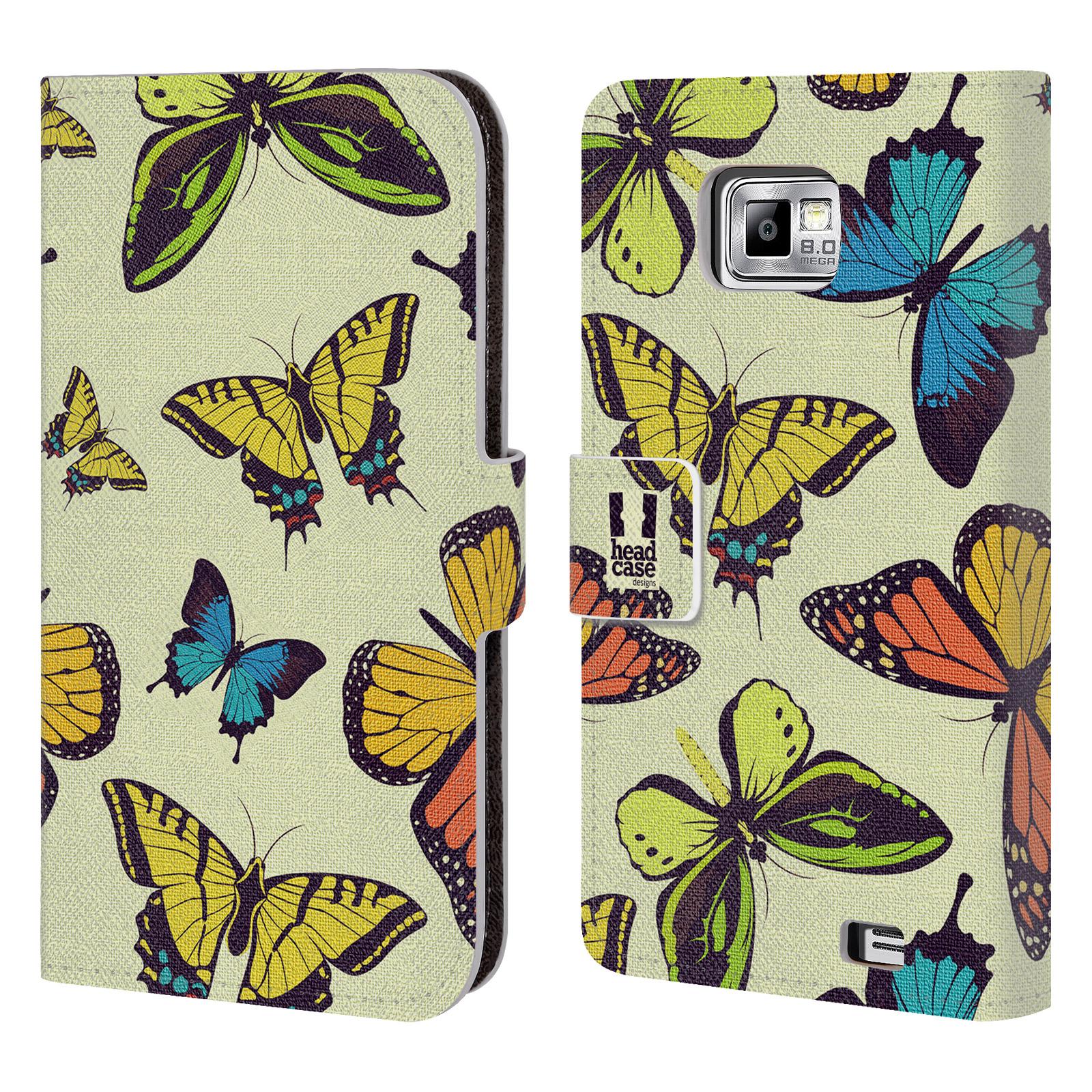 HEAD CASE Flipové pouzdro pro mobil Samsung Galaxy S2 i9100 Vzorkovaný motýl MIX