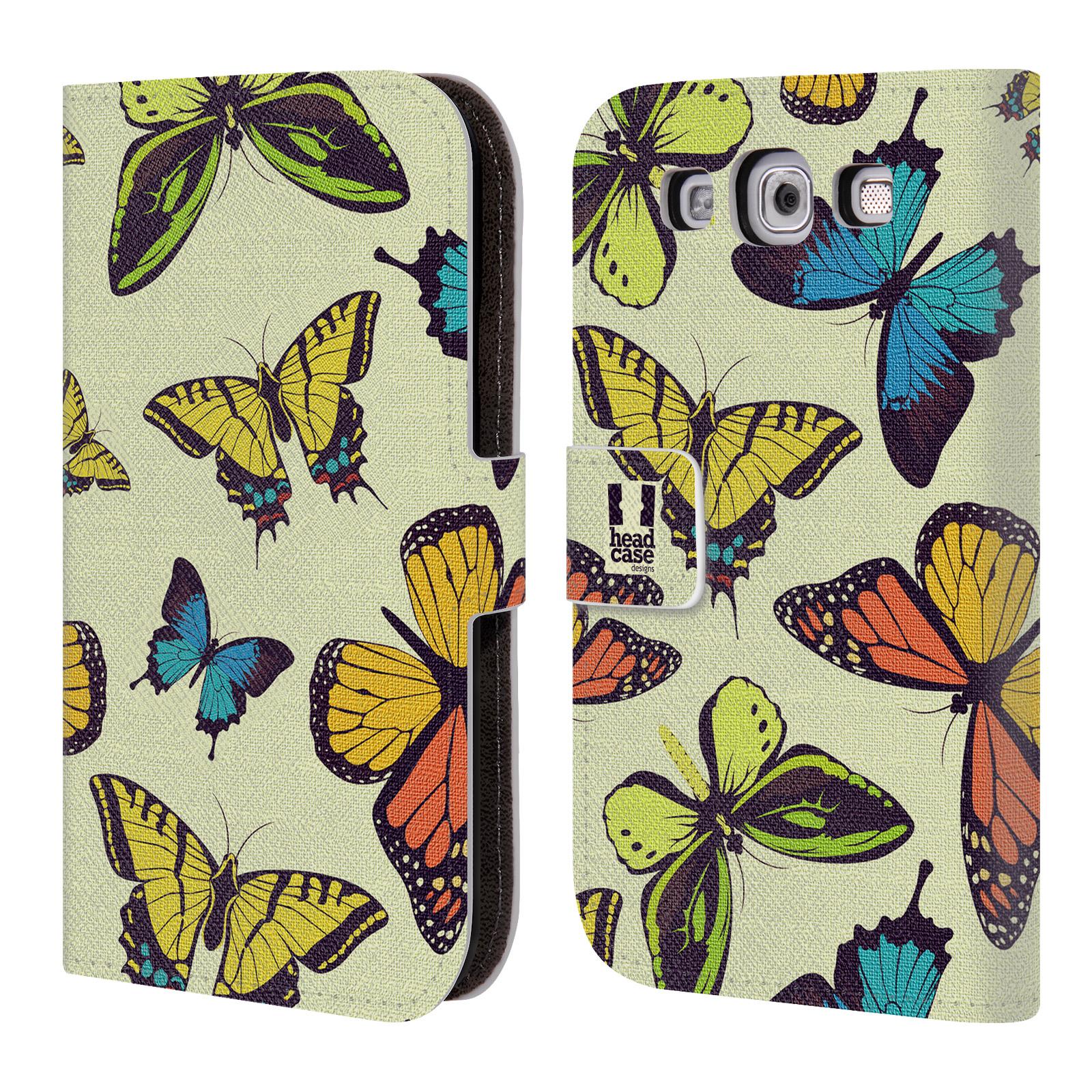 HEAD CASE Flipové pouzdro pro mobil Samsung Galaxy S3 Vzorkovaný motýl MIX