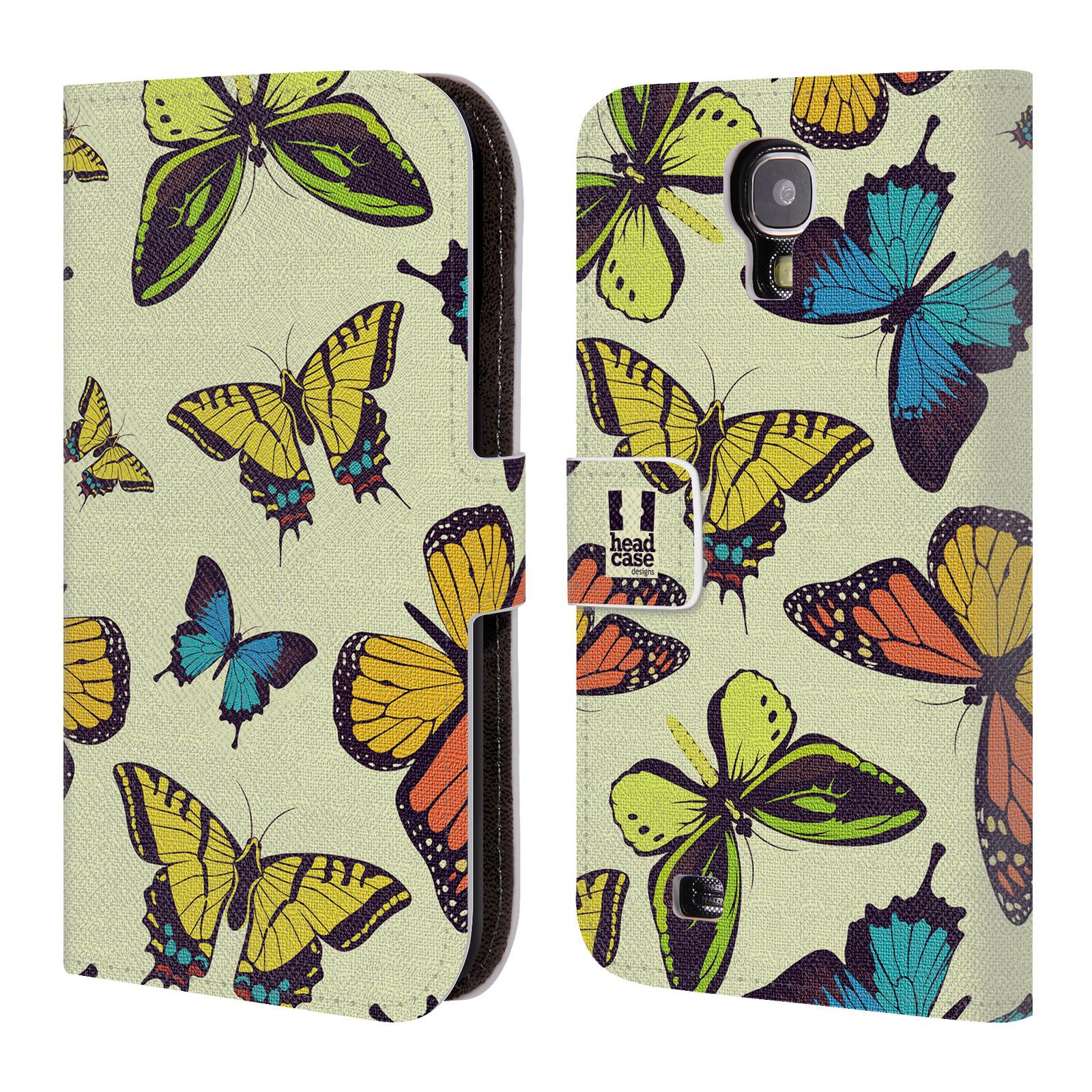 HEAD CASE Flipové pouzdro pro mobil Samsung Galaxy S4 Vzorkovaný motýl MIX
