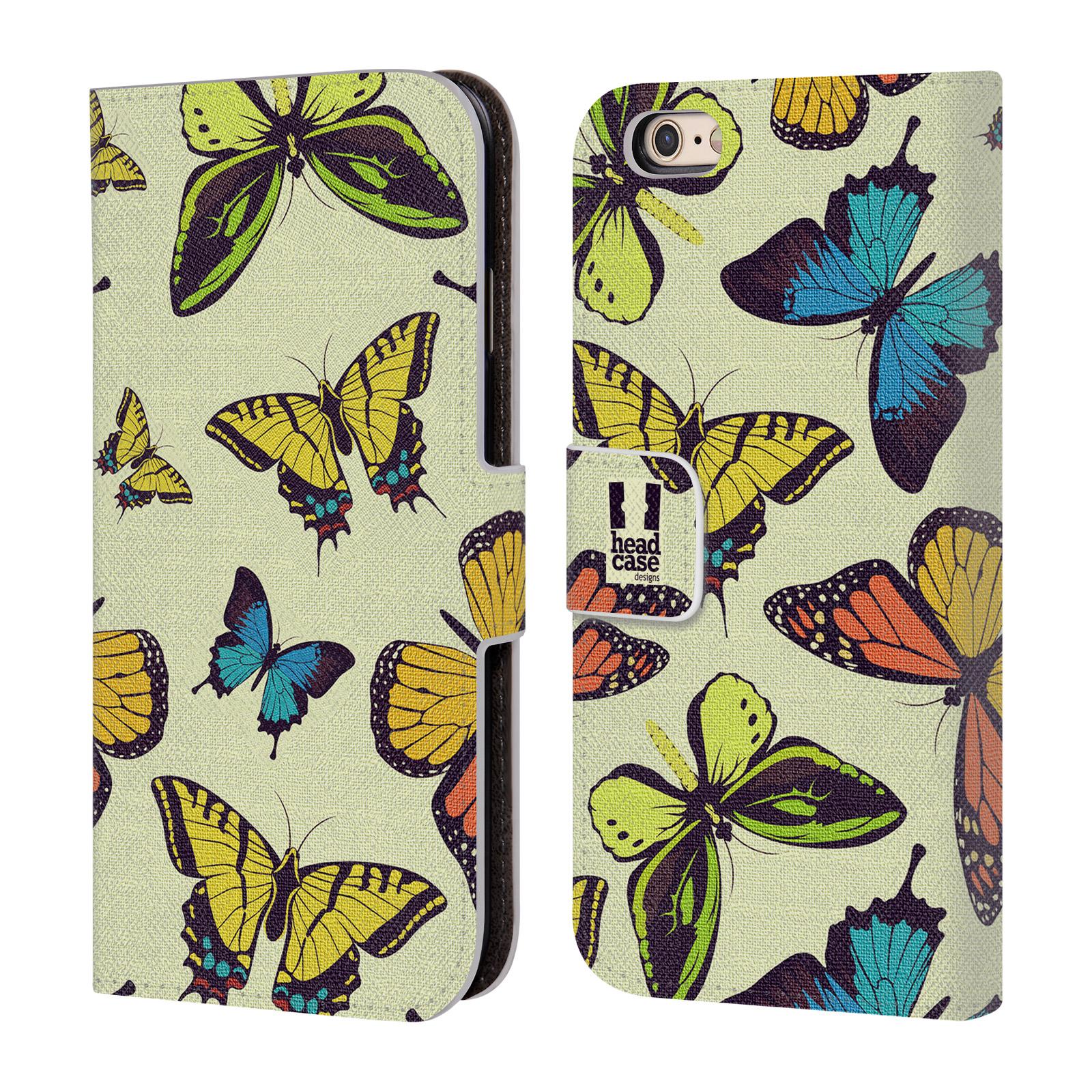 HEAD CASE Flipové pouzdro pro mobil Apple Iphone 6/6s Vzorkovaný motýl MIX