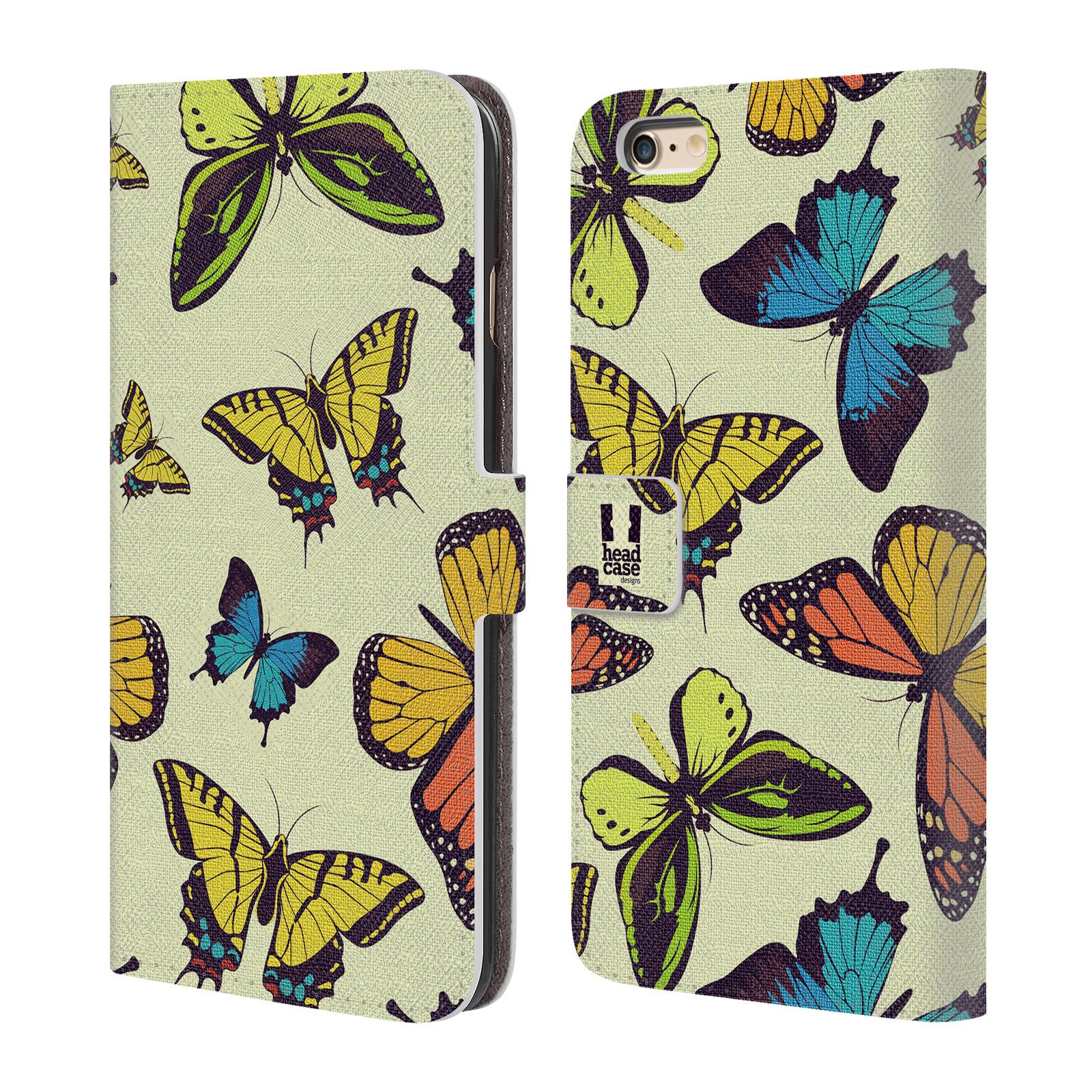 HEAD CASE Flipové pouzdro pro mobil Apple Iphone 6 PLUS / 6S PLUS Vzorkovaný motýl MIX