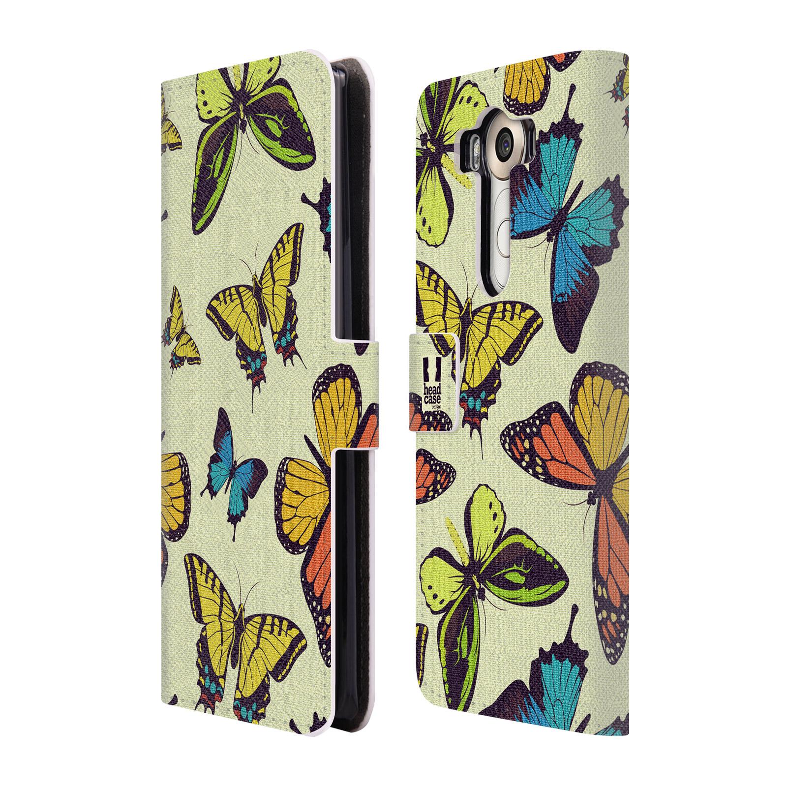 HEAD CASE Flipové pouzdro pro mobil LG V10 Vzorkovaný motýl MIX